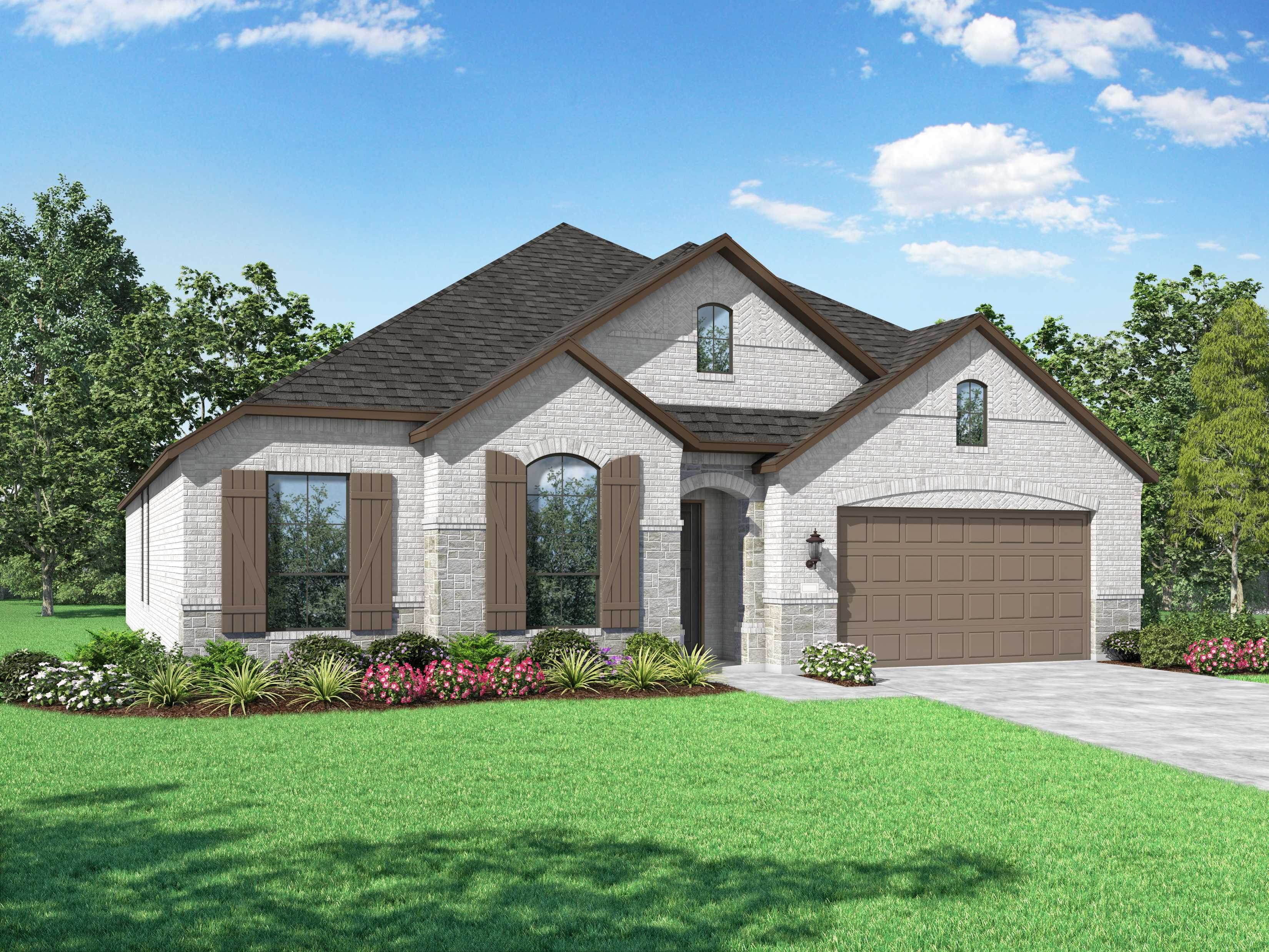 Exterior featured in the Plan Chesterfield By Highland Homes in Dallas, TX