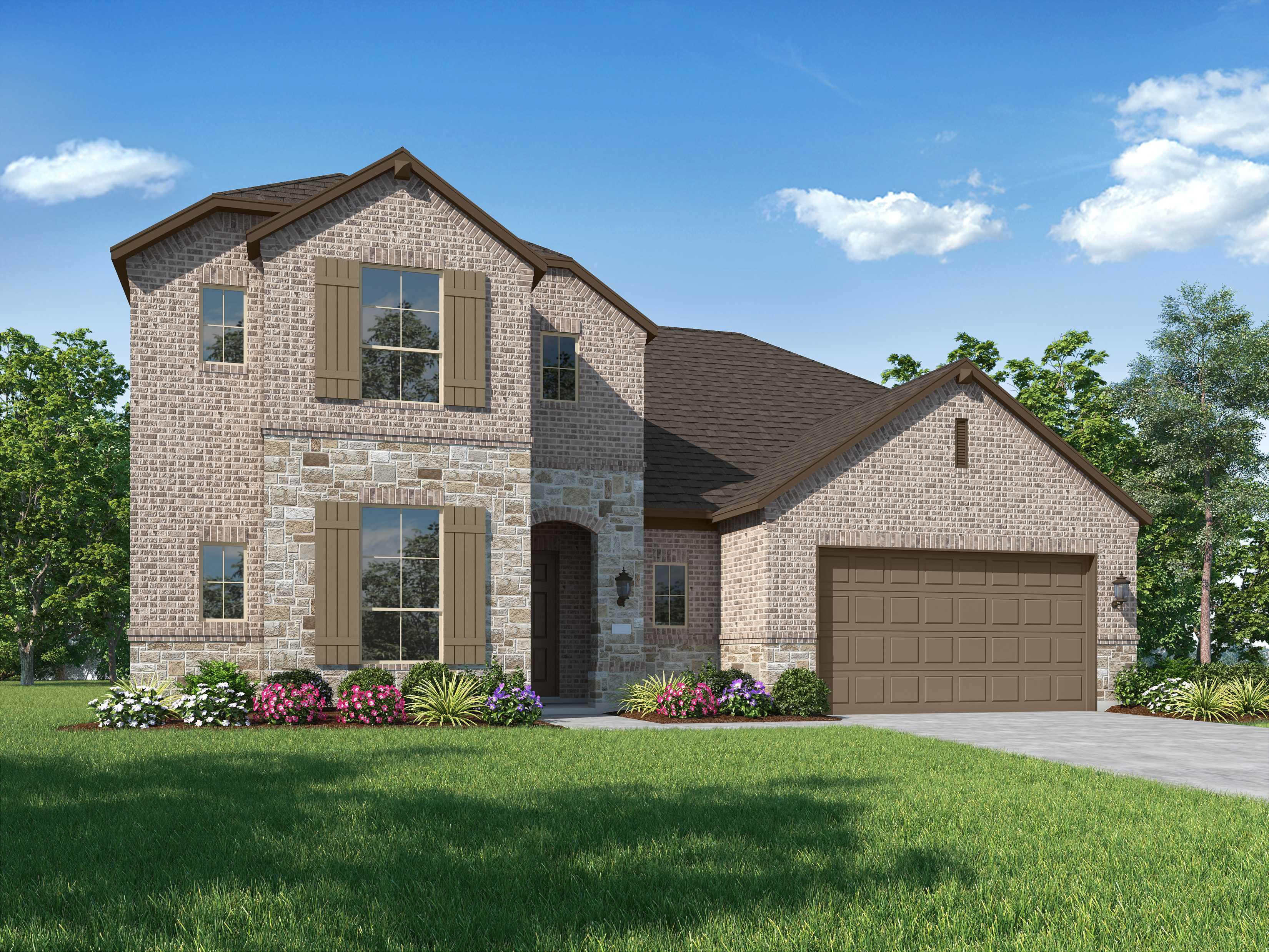 Exterior featured in the Plan Roxburgh By Highland Homes in Dallas, TX