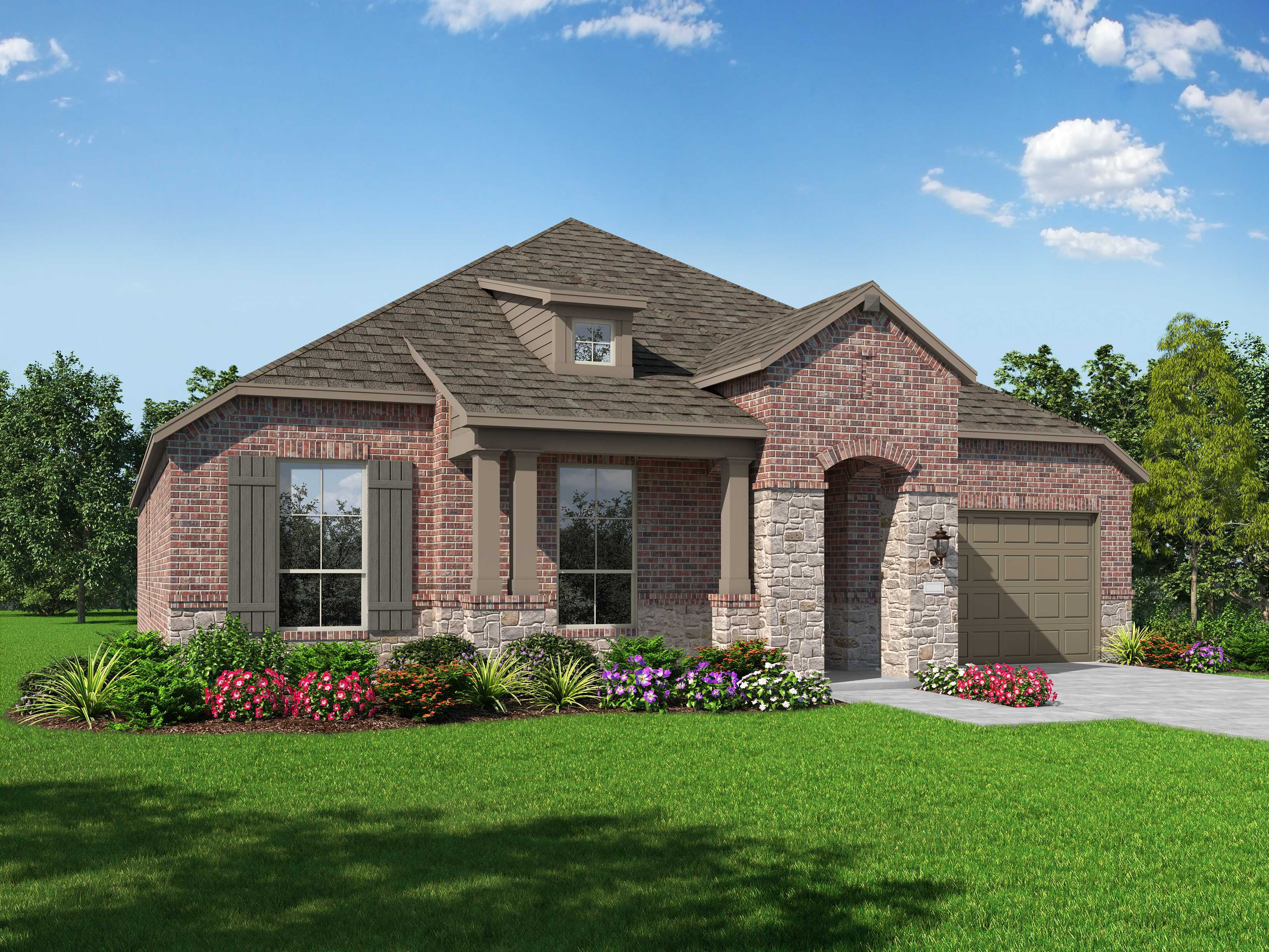 Exterior featured in the Plan Milton By Highland Homes in Dallas, TX