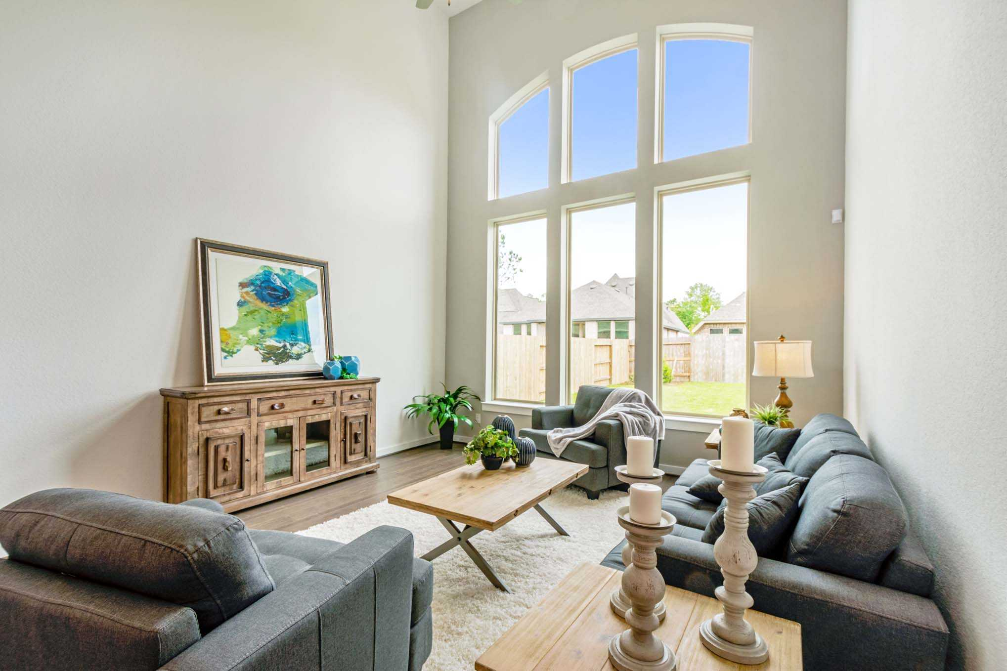 Living Area featured in the Plan 557H By Highland Homes in Fort Worth, TX