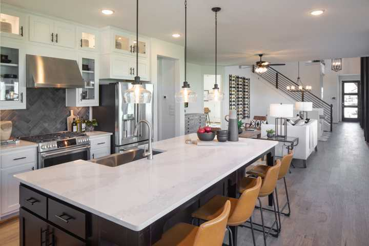 Kitchen featured in the Plan Ellington By Highland Homes in Dallas, TX