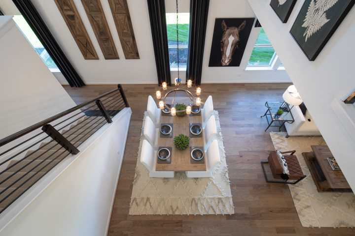 Living Area featured in the Plan Ellington By Highland Homes in Dallas, TX