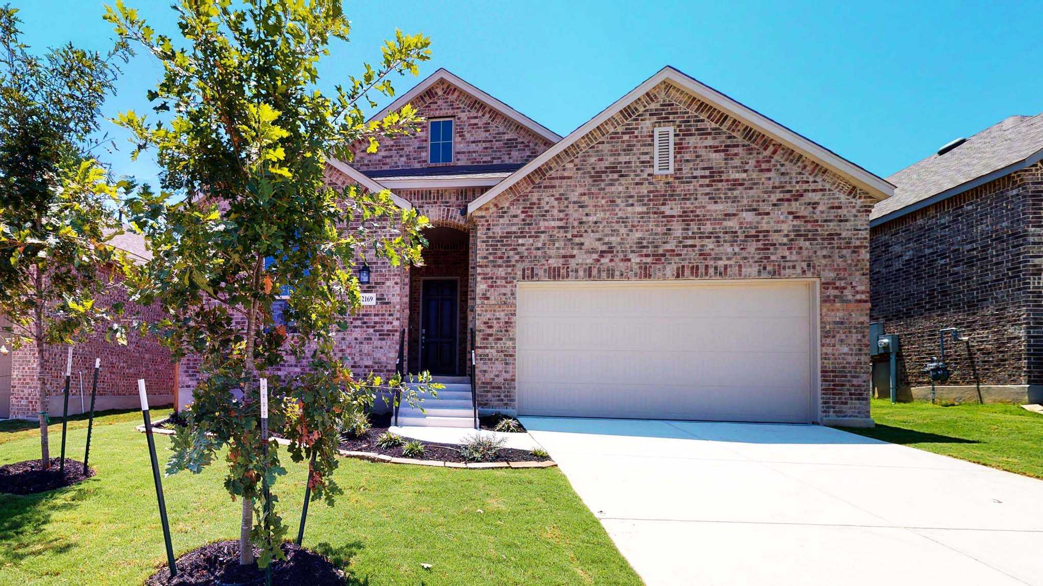 Exterior featured in the Plan Dorchester By Highland Homes in San Antonio, TX