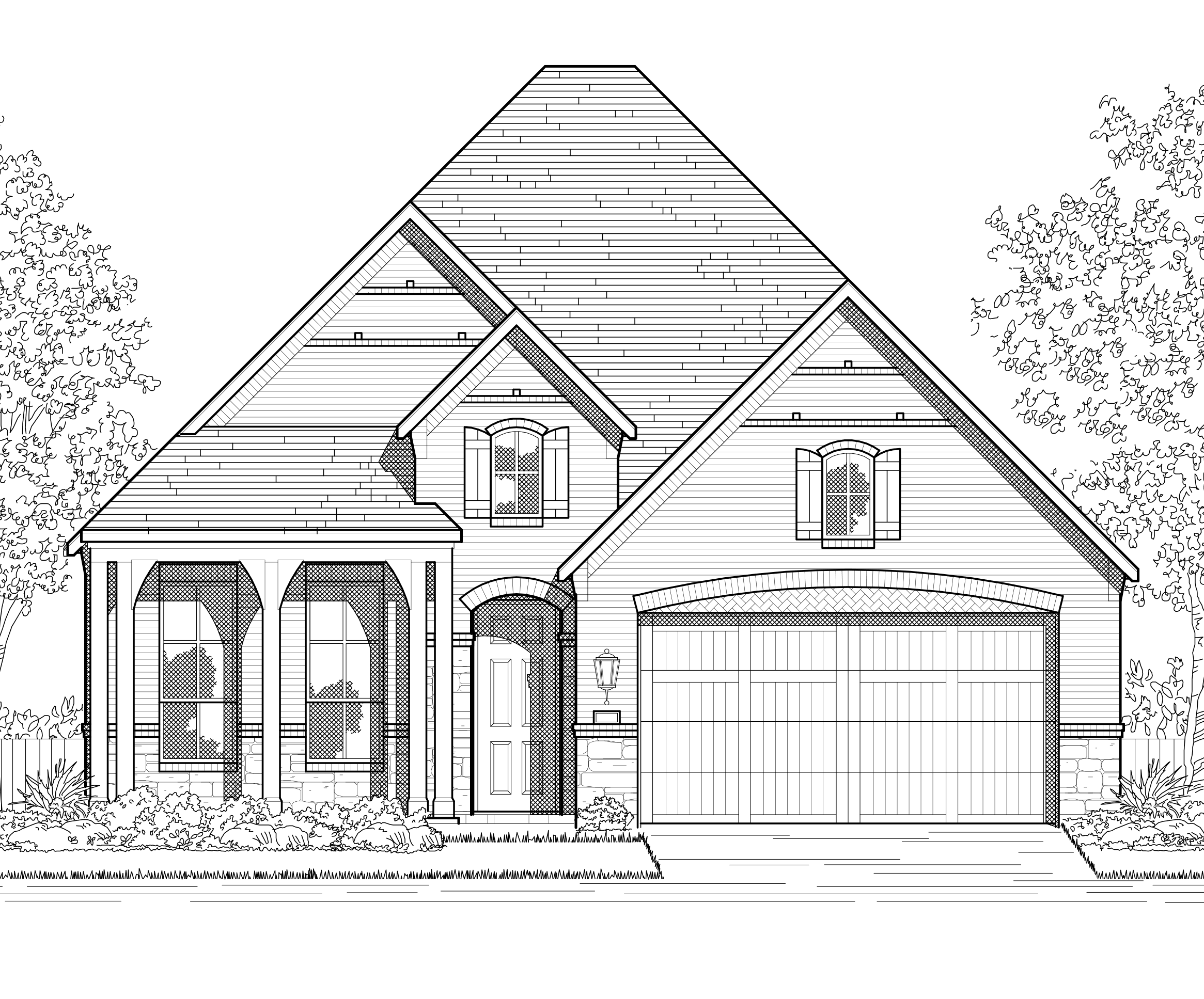 Exterior featured in the Plan Amberley By Highland Homes in Dallas, TX