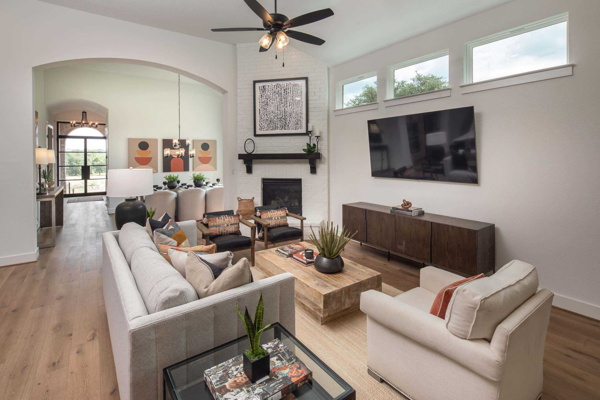 Living Area featured in the Plan 215 By Highland Homes in San Antonio, TX