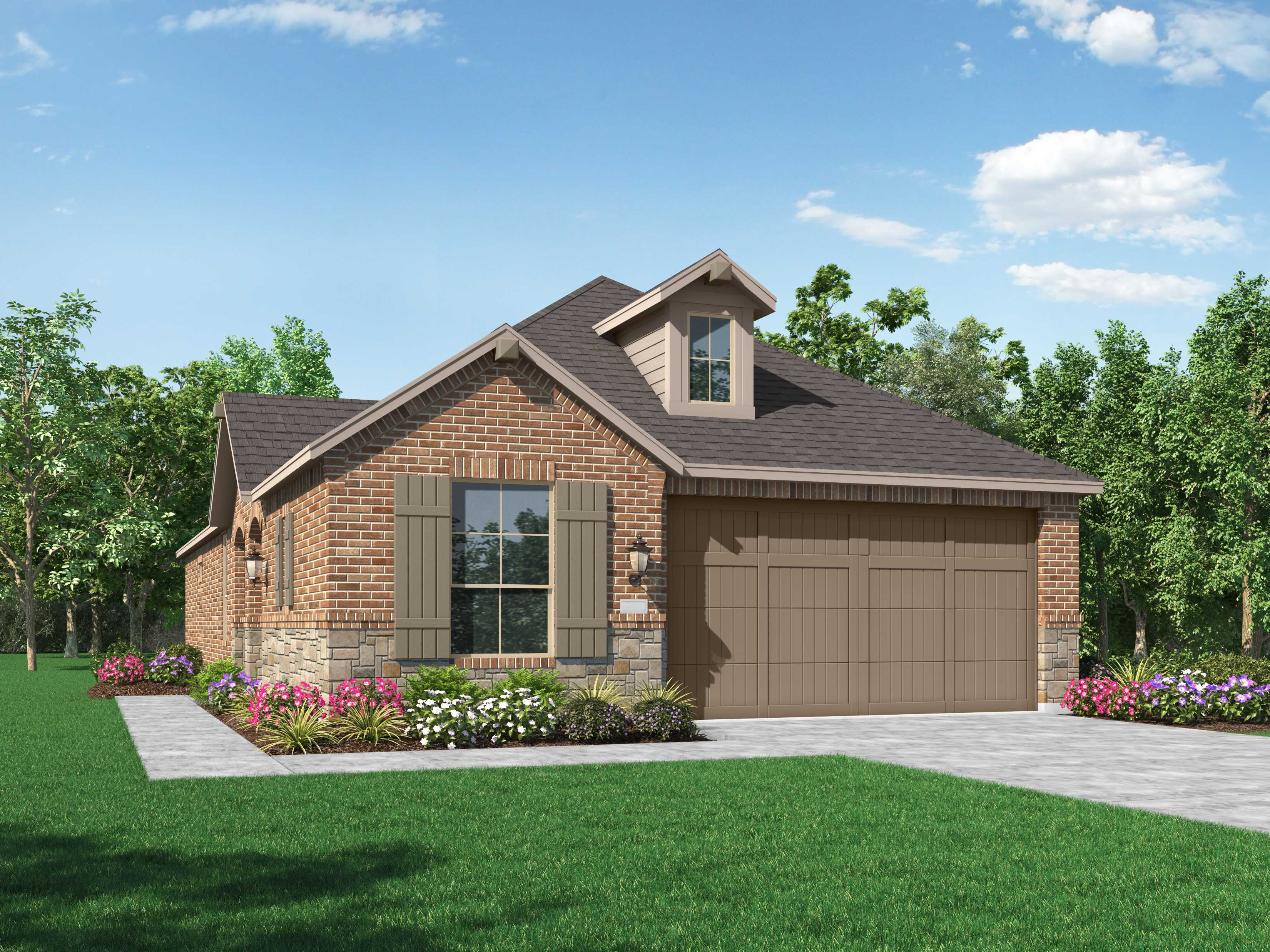 Exterior featured in the Plan Wales By Highland Homes in Houston, TX