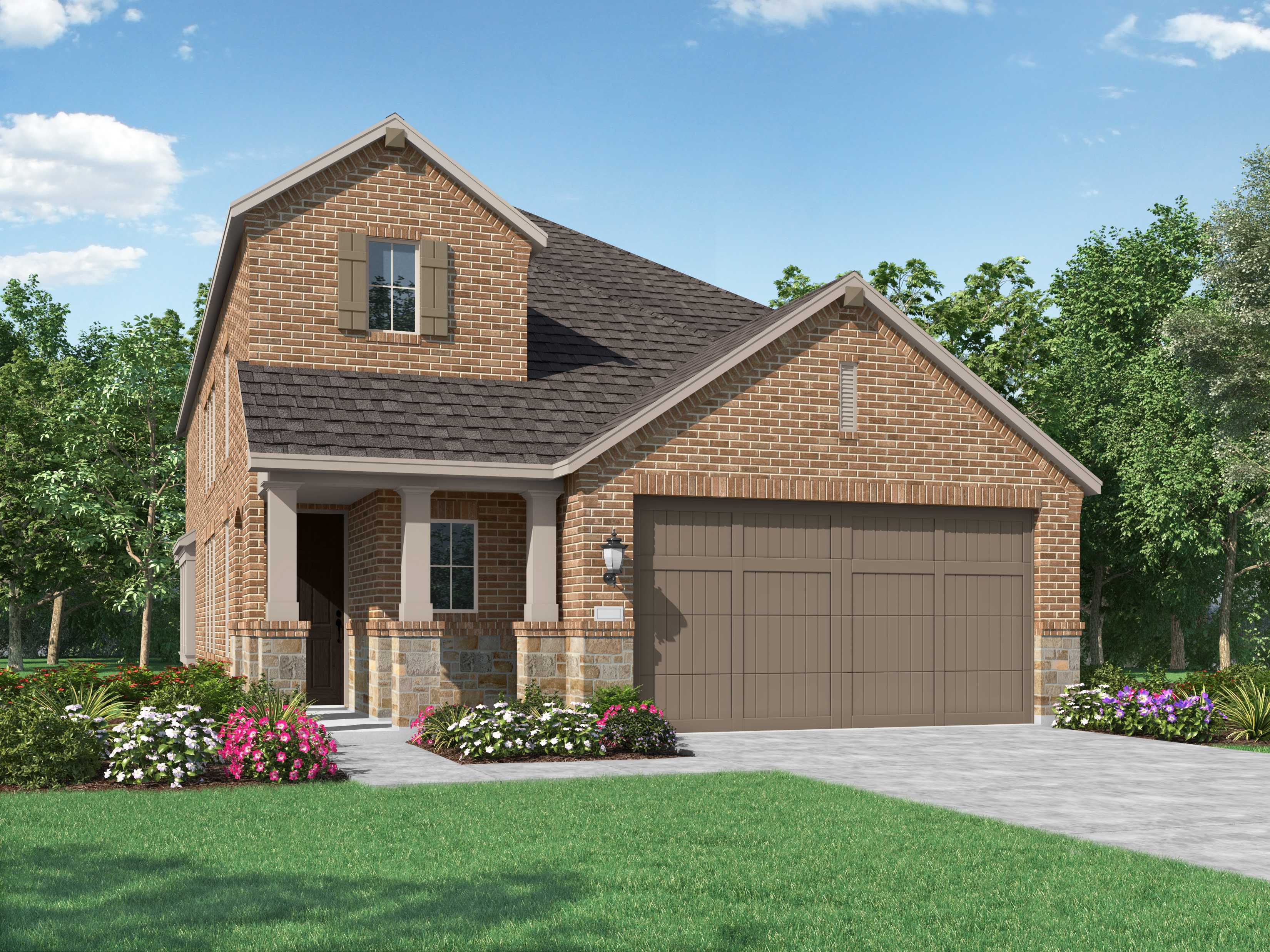 Exterior featured in the Plan Everleigh By Highland Homes in Houston, TX