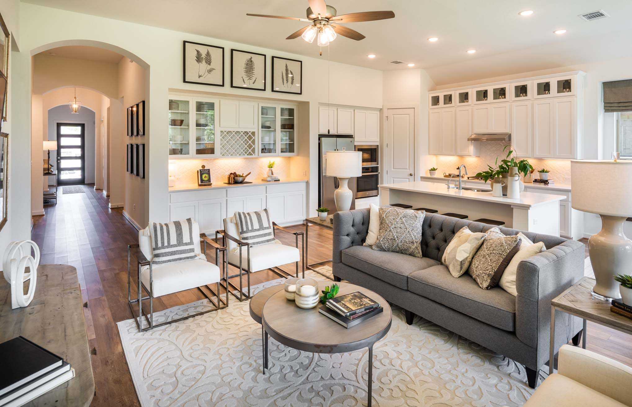 Living Area featured in the Plan Denton By Highland Homes in San Antonio, TX