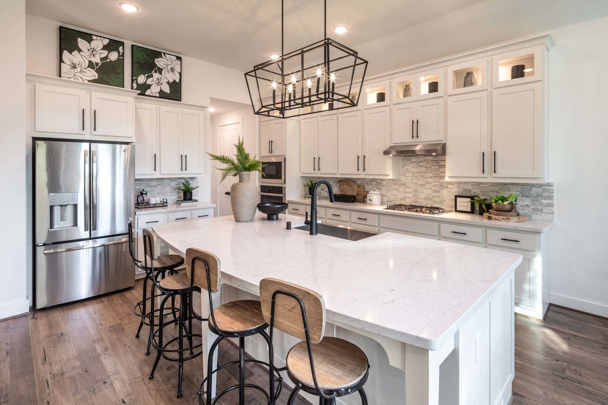 Kitchen featured in the Plan Canterbury By Highland Homes in Dallas, TX