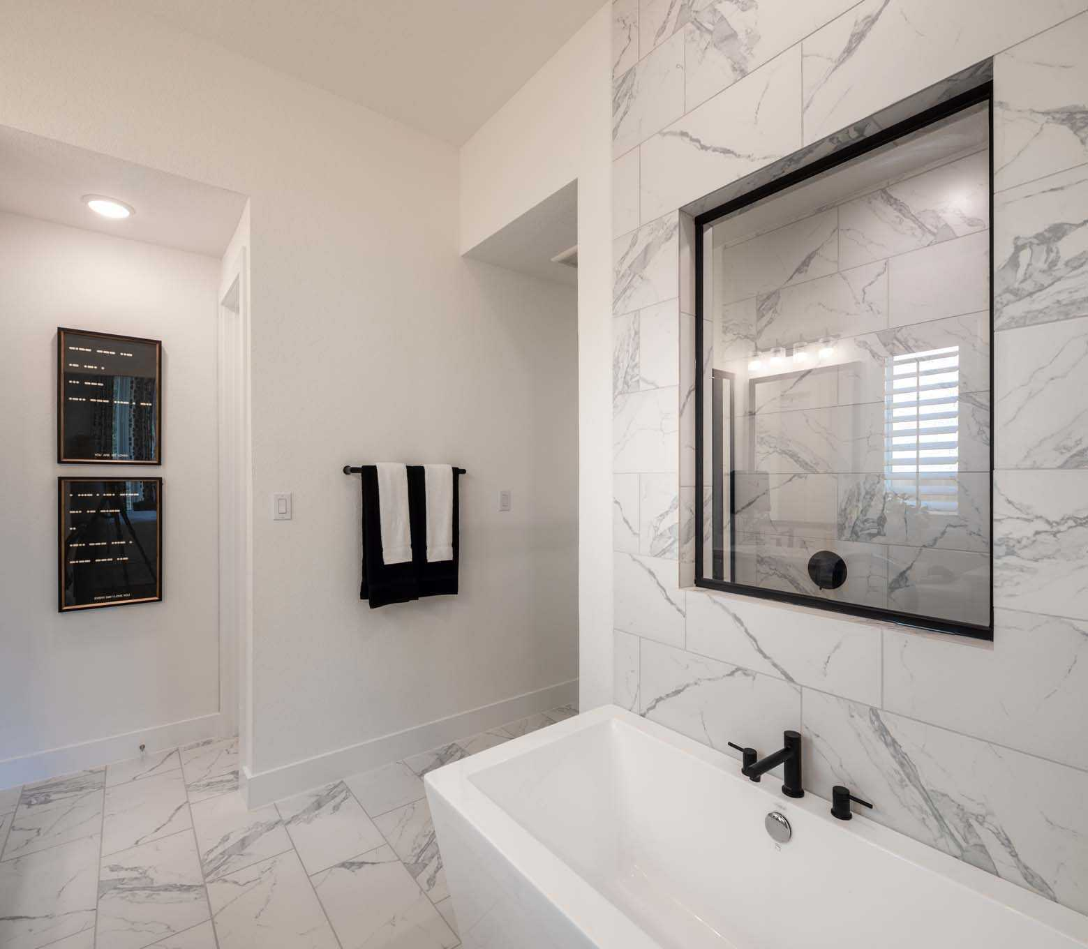 Bathroom featured in the Plan Canterbury By Highland Homes in Dallas, TX