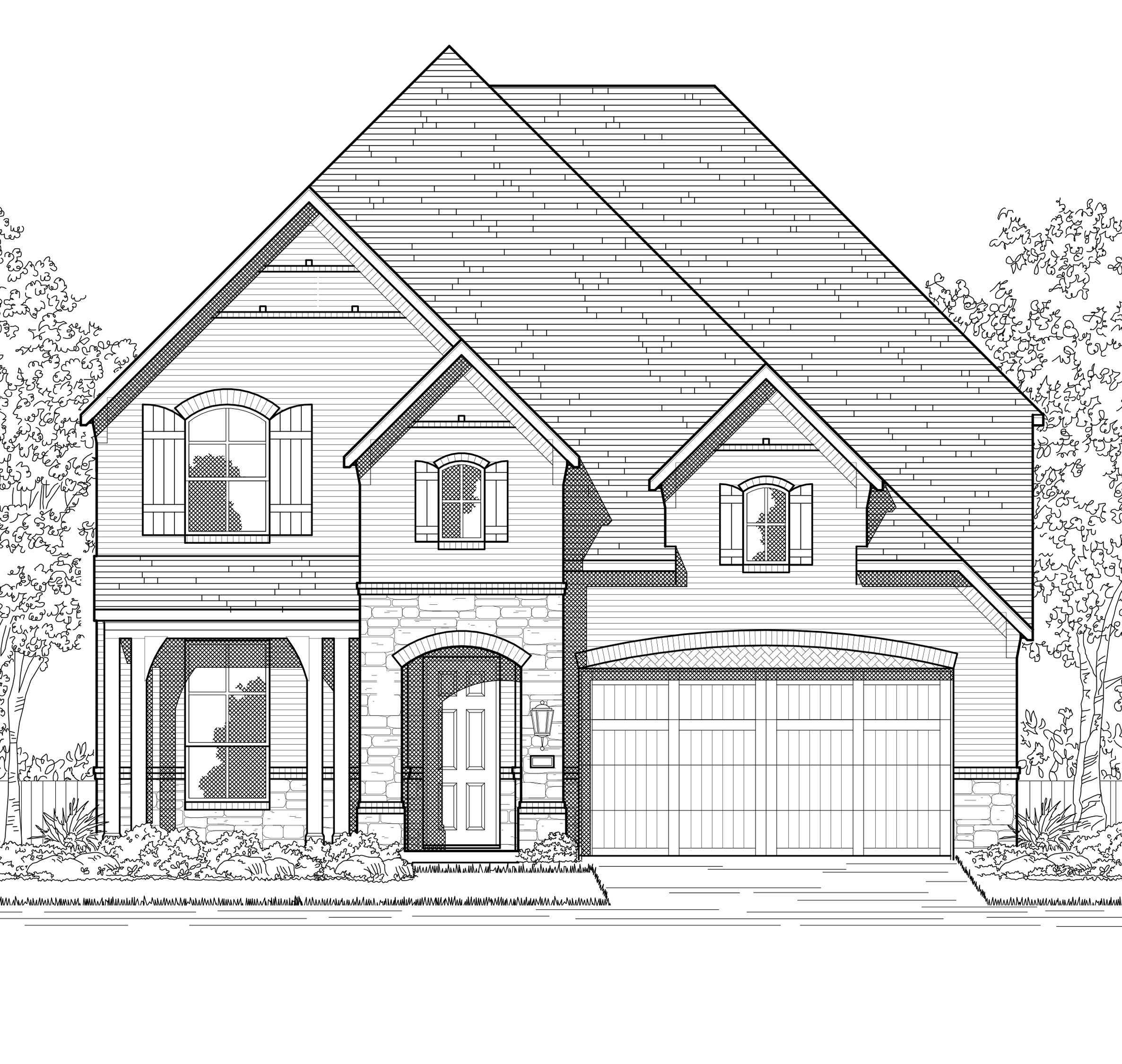 Exterior featured in the Plan Redford By Highland Homes in San Antonio, TX