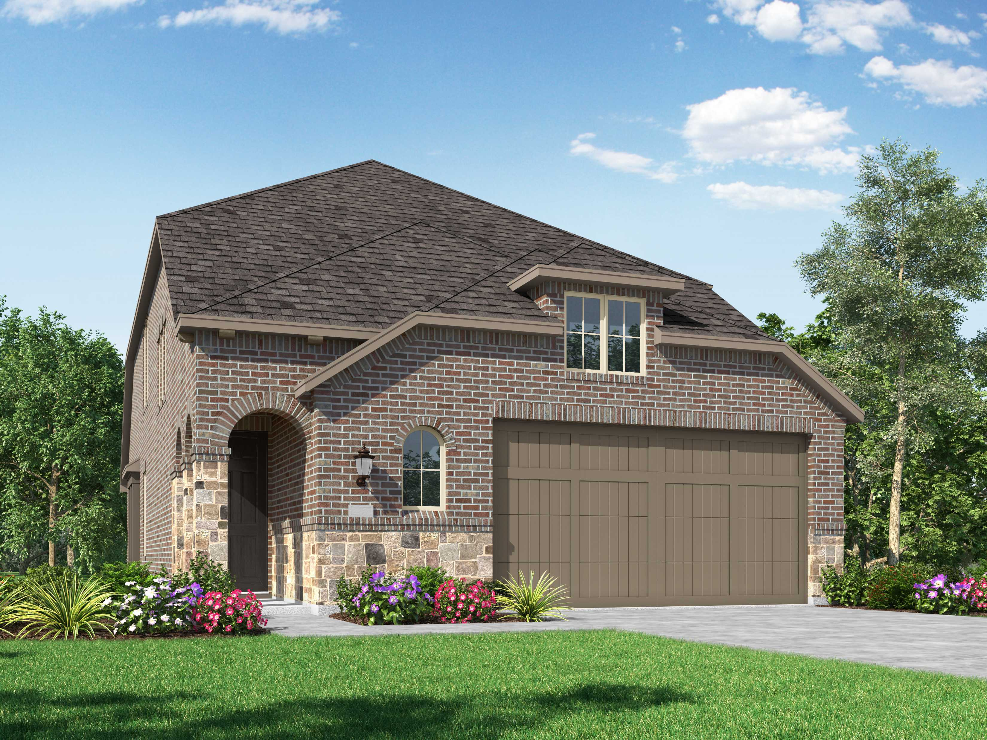 Exterior featured in the Plan Windermere By Highland Homes in Houston, TX