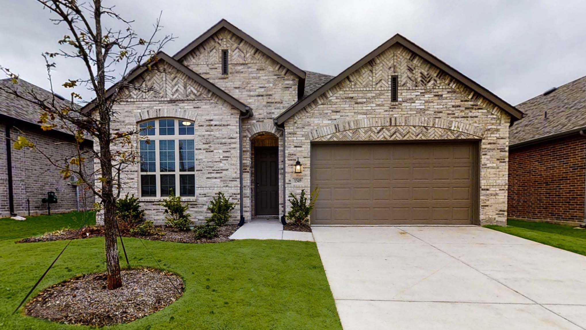 Exterior featured in the Plan Denton By Highland Homes in Dallas, TX
