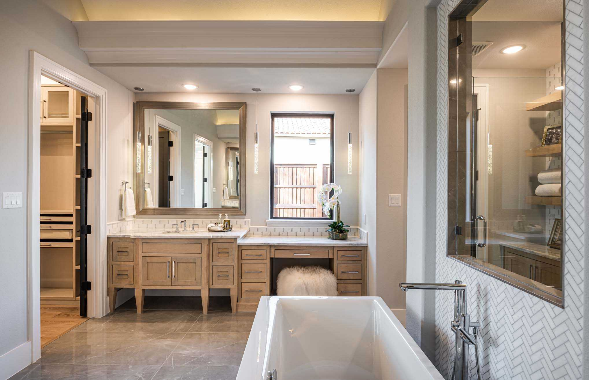 Bathroom featured in the Plan 5200 CUSTOM PLAN By Huntington Homes in Dallas, TX