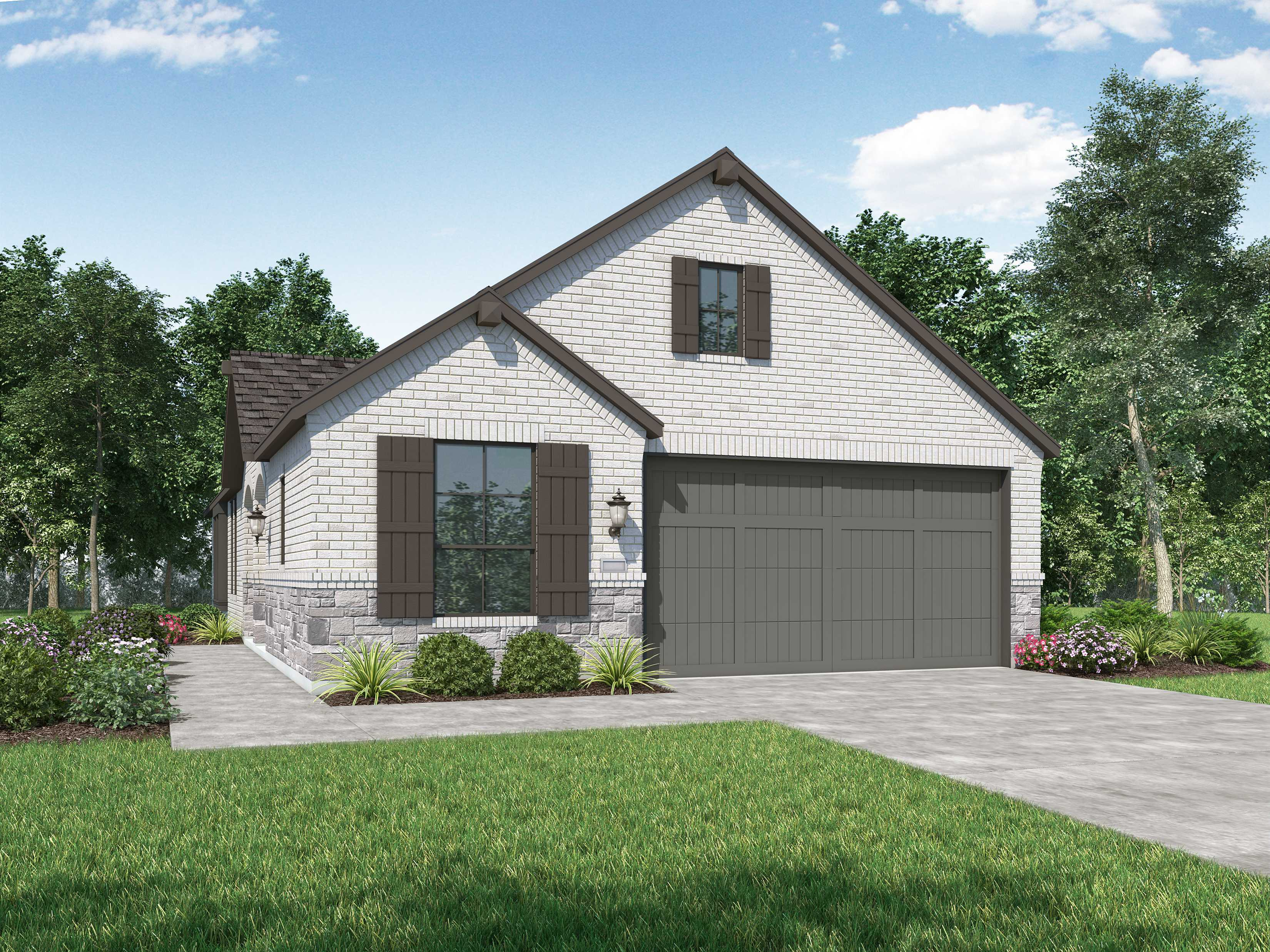Exterior featured in the Plan Windsor By Highland Homes in Houston, TX