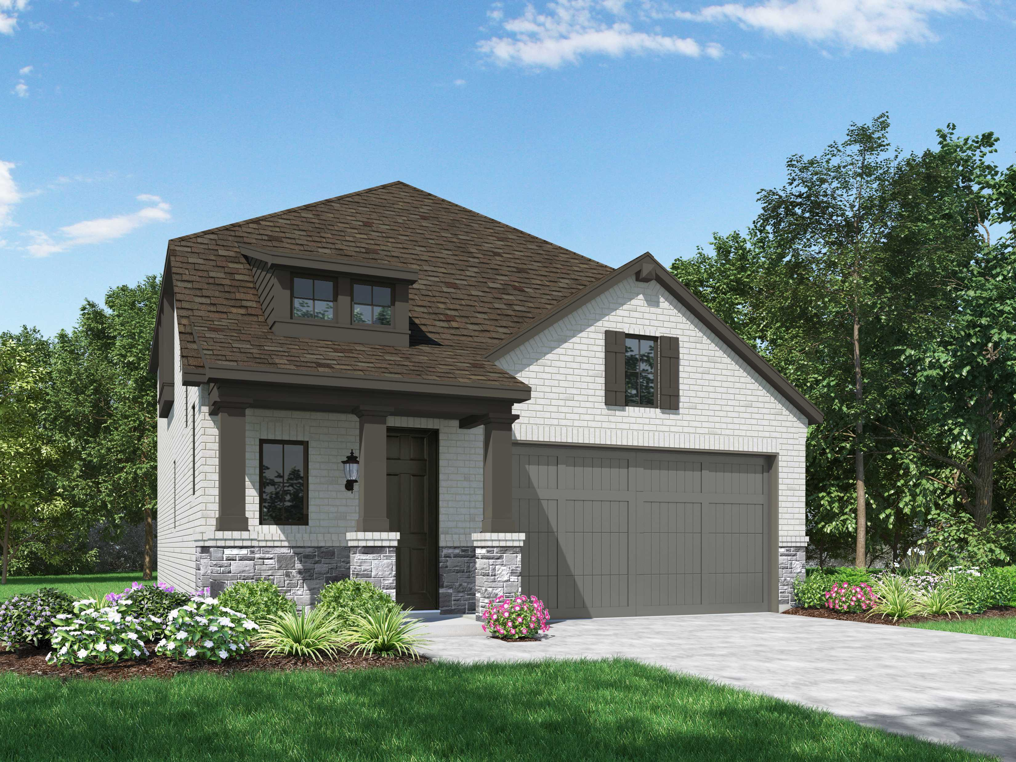 Exterior featured in the Plan Stratford By Highland Homes in Sherman-Denison, TX