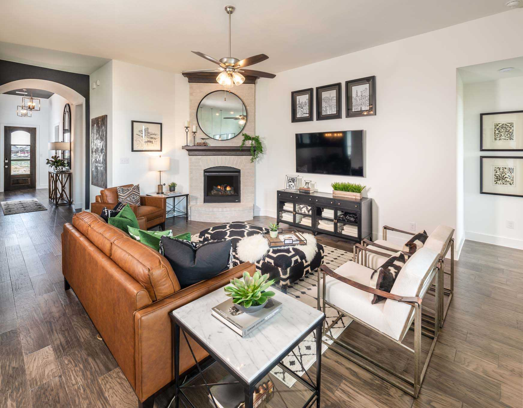 Living Area featured in the Plan Ashwood By Highland Homes in Houston, TX