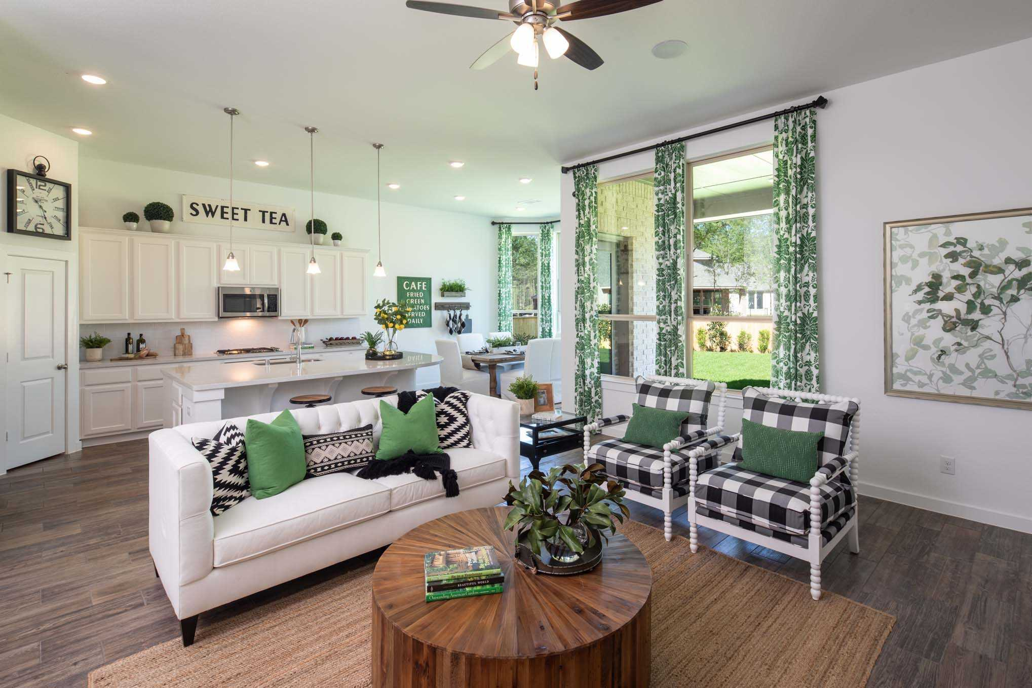Living Area featured in the Plan Amberley By Highland Homes in Houston, TX