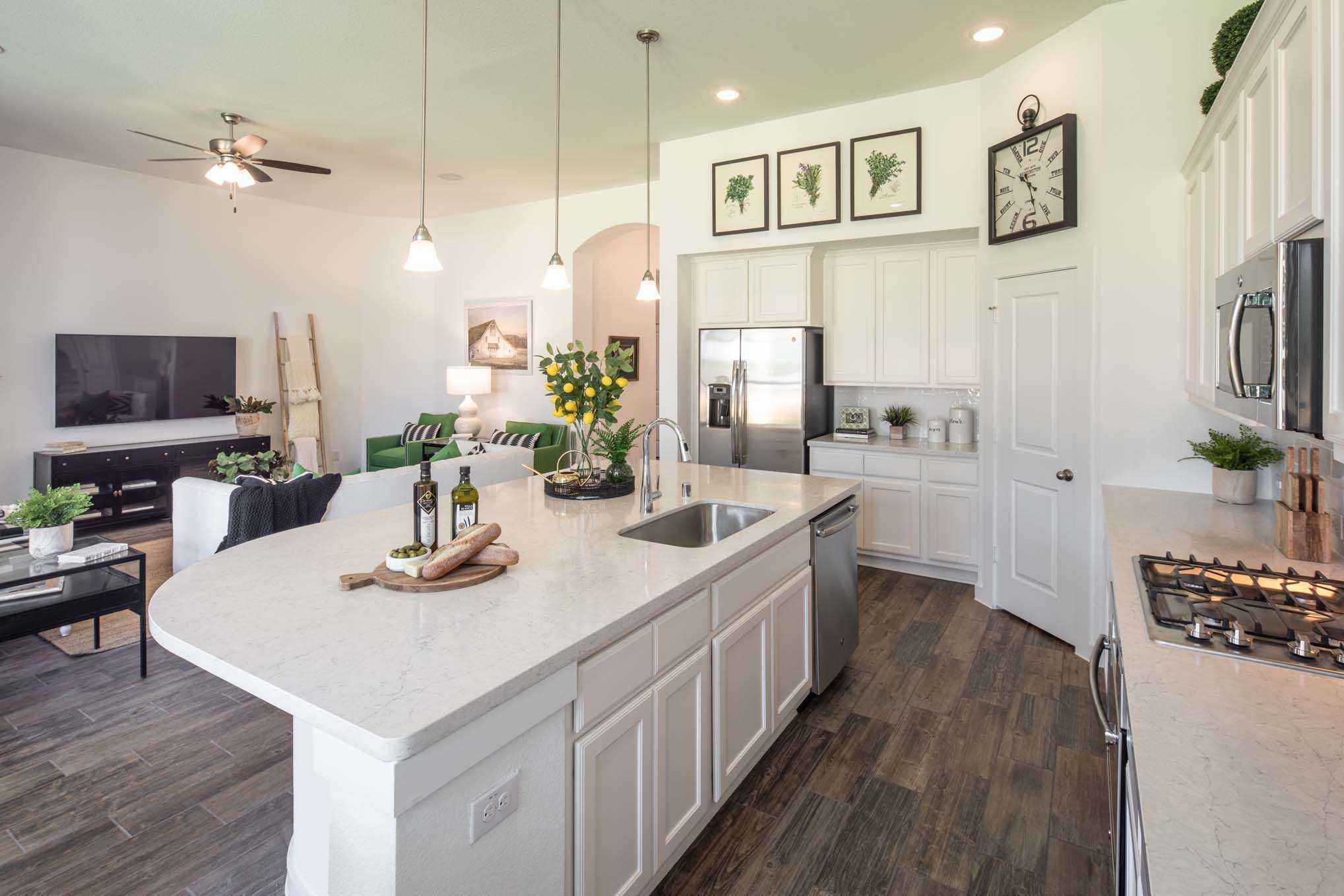 Kitchen featured in the Plan Amberley By Highland Homes in Houston, TX
