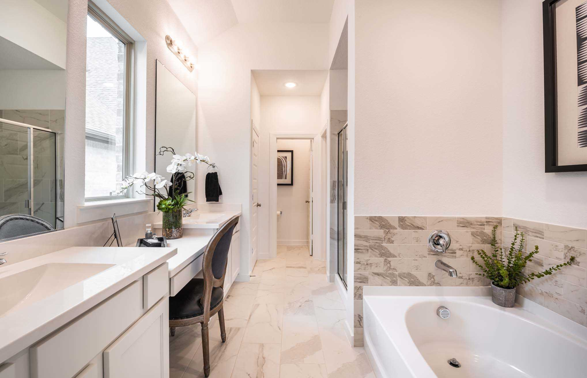 Bathroom featured in the Plan Dorchester By Highland Homes in Houston, TX