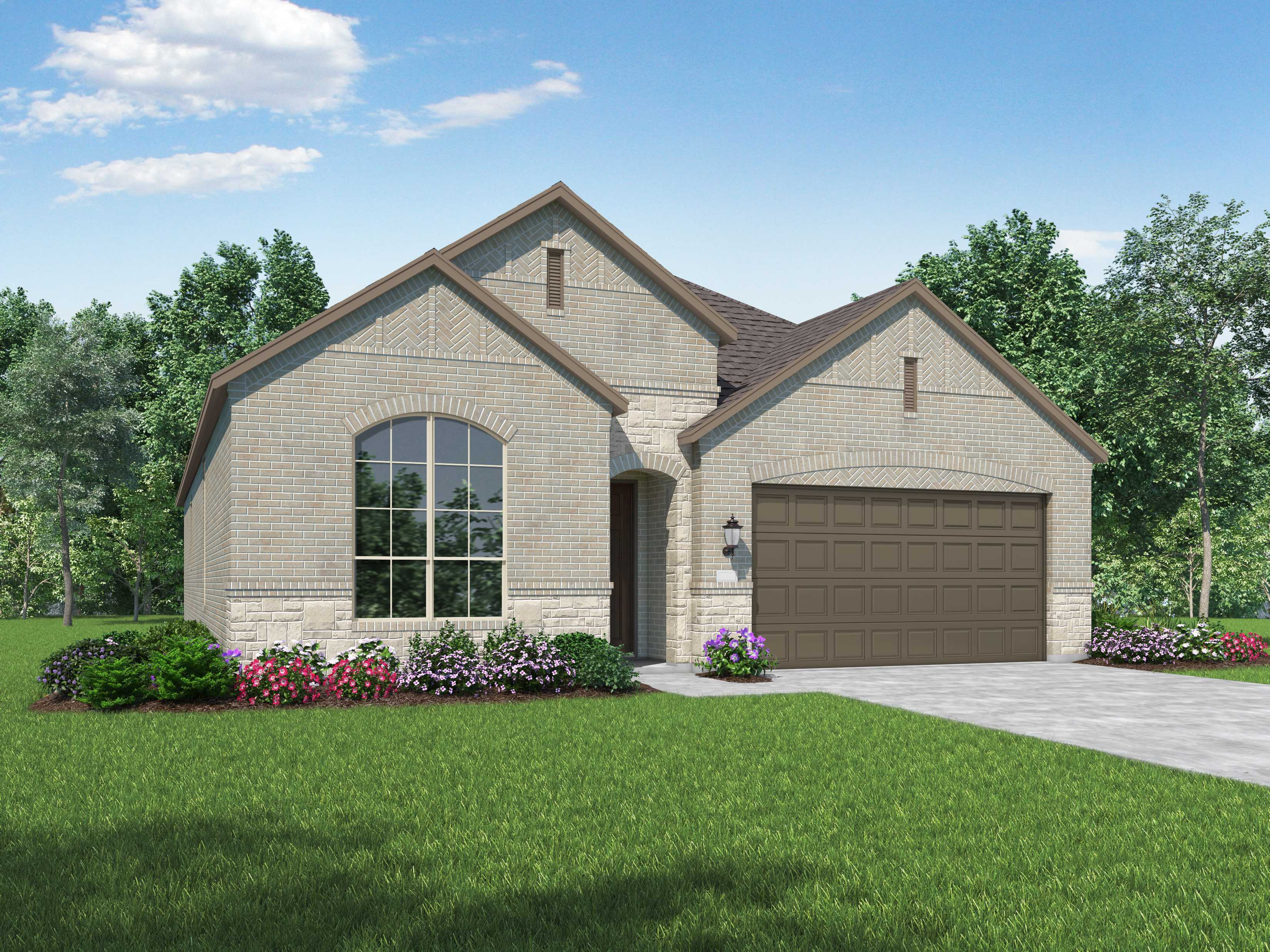 Exterior featured in the Plan Denton By Highland Homes in Houston, TX
