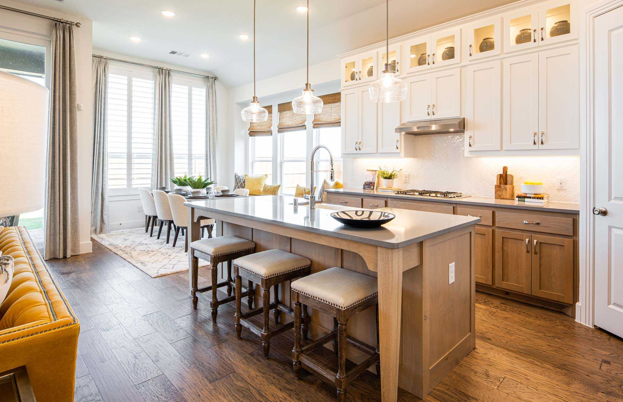 Kitchen featured in the Plan Denton By Highland Homes in Houston, TX