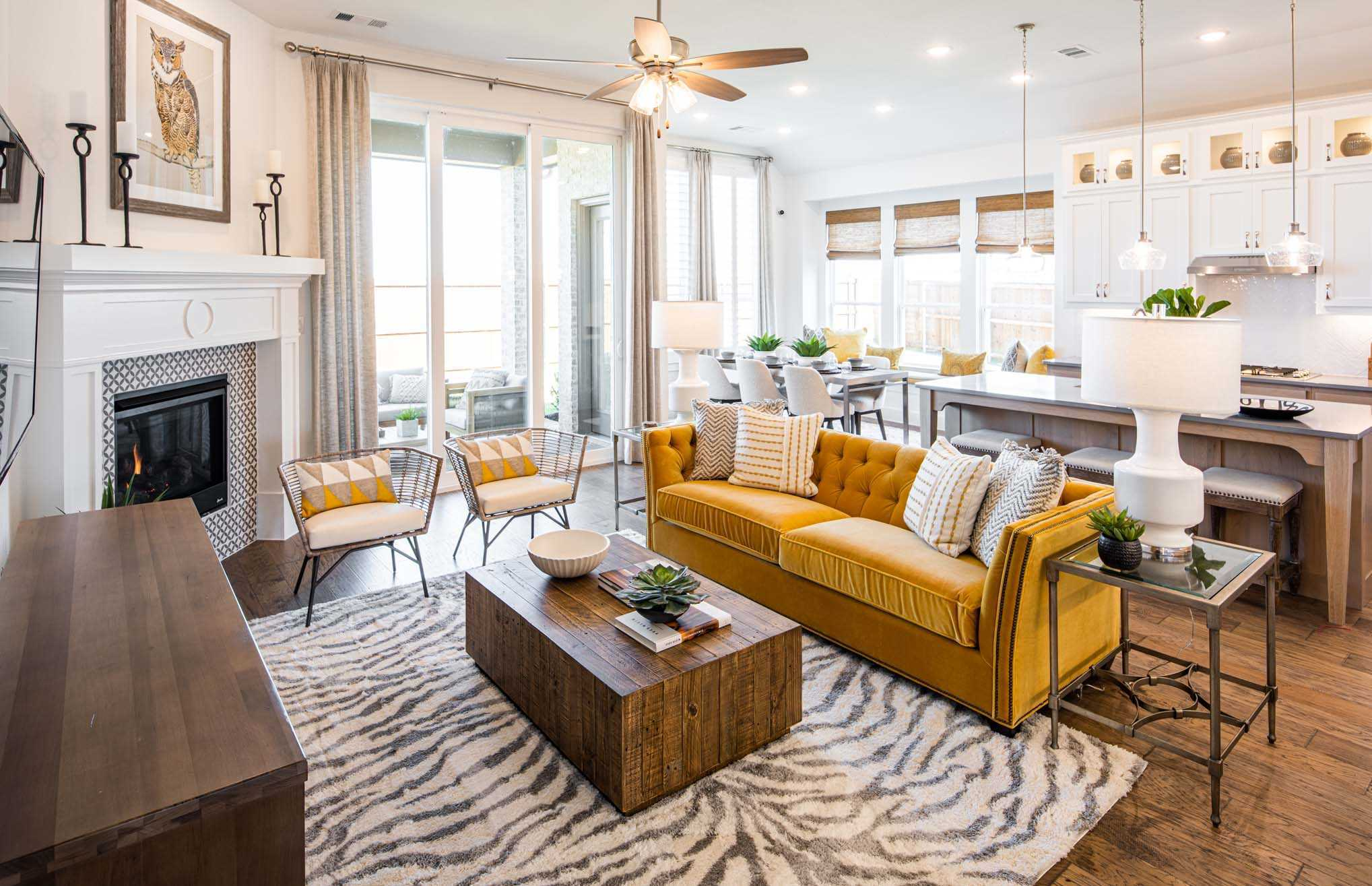 Living Area featured in the Plan Denton By Highland Homes in Houston, TX