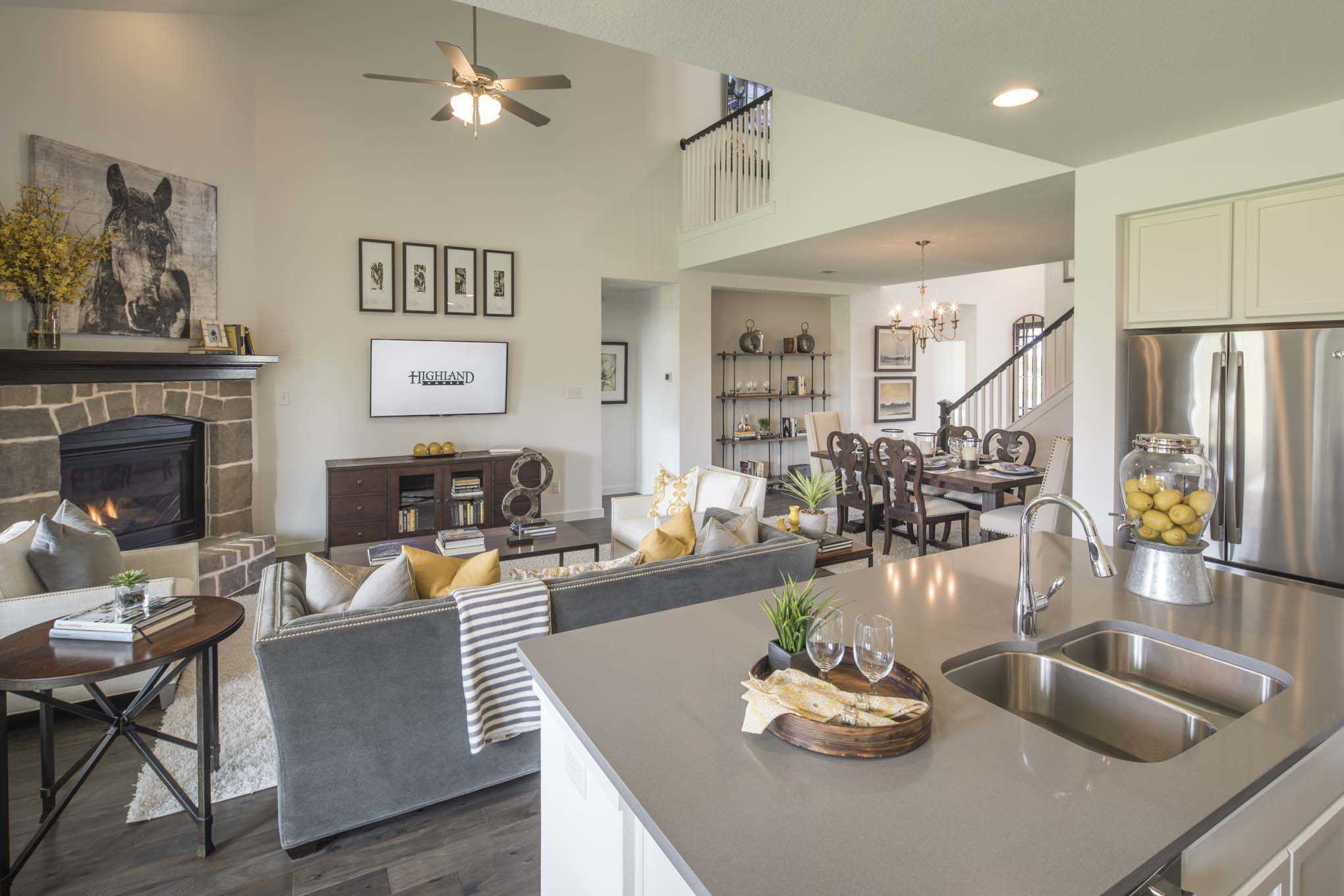 Living Area featured in the Plan Westbury By Highland Homes in Houston, TX