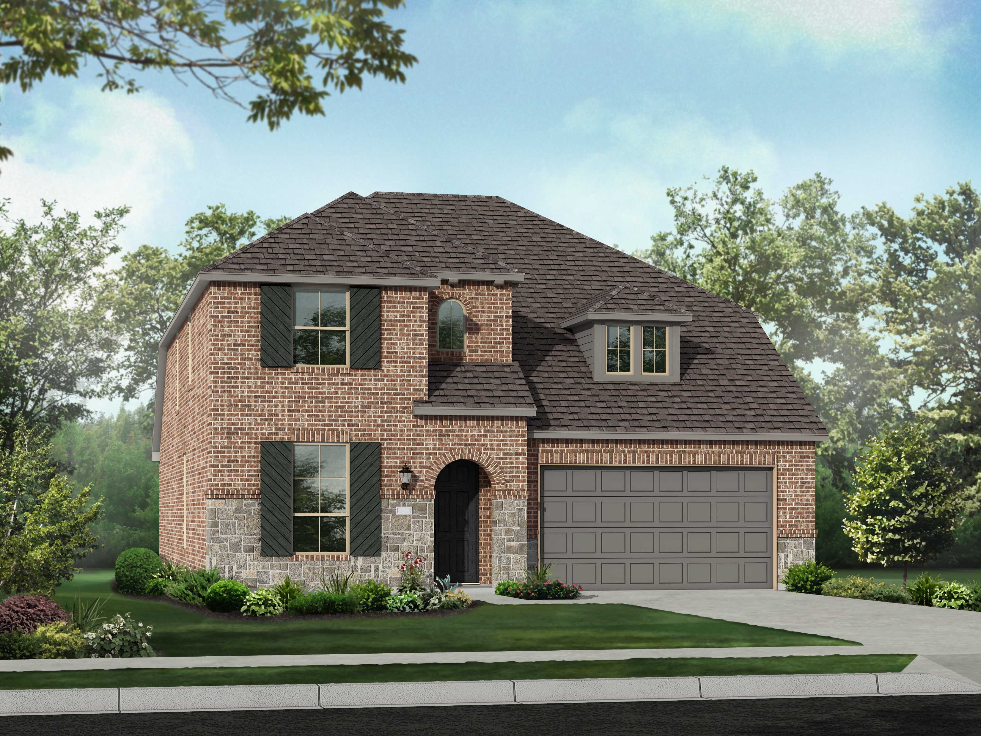 Exterior featured in the Plan Richmond By Highland Homes in Houston, TX