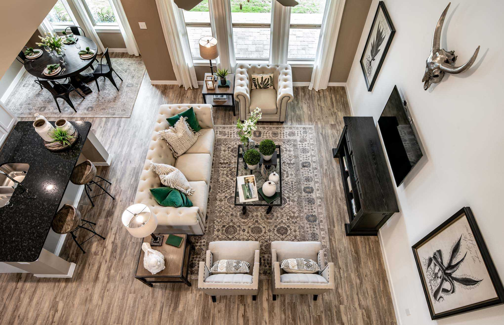 Living Area featured in the Plan Richmond By Highland Homes in Houston, TX
