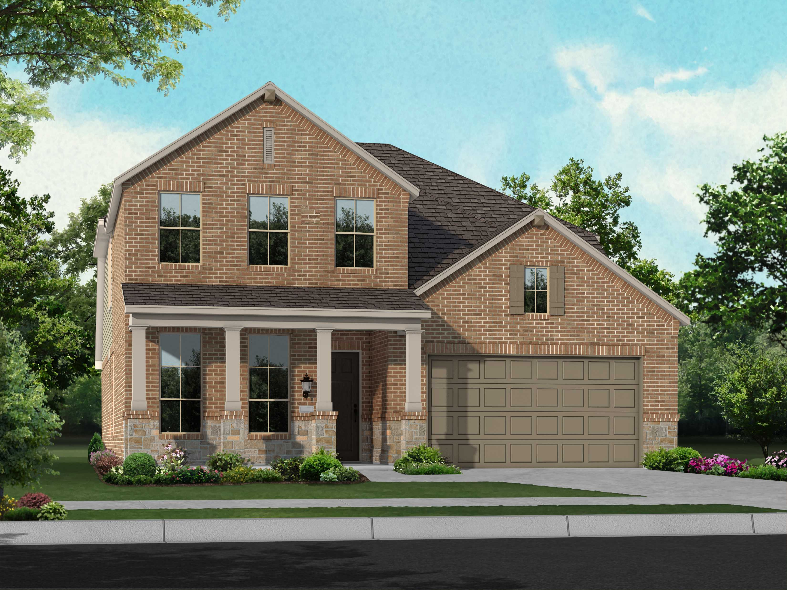 Exterior featured in the Plan Waverley By Highland Homes in Houston, TX