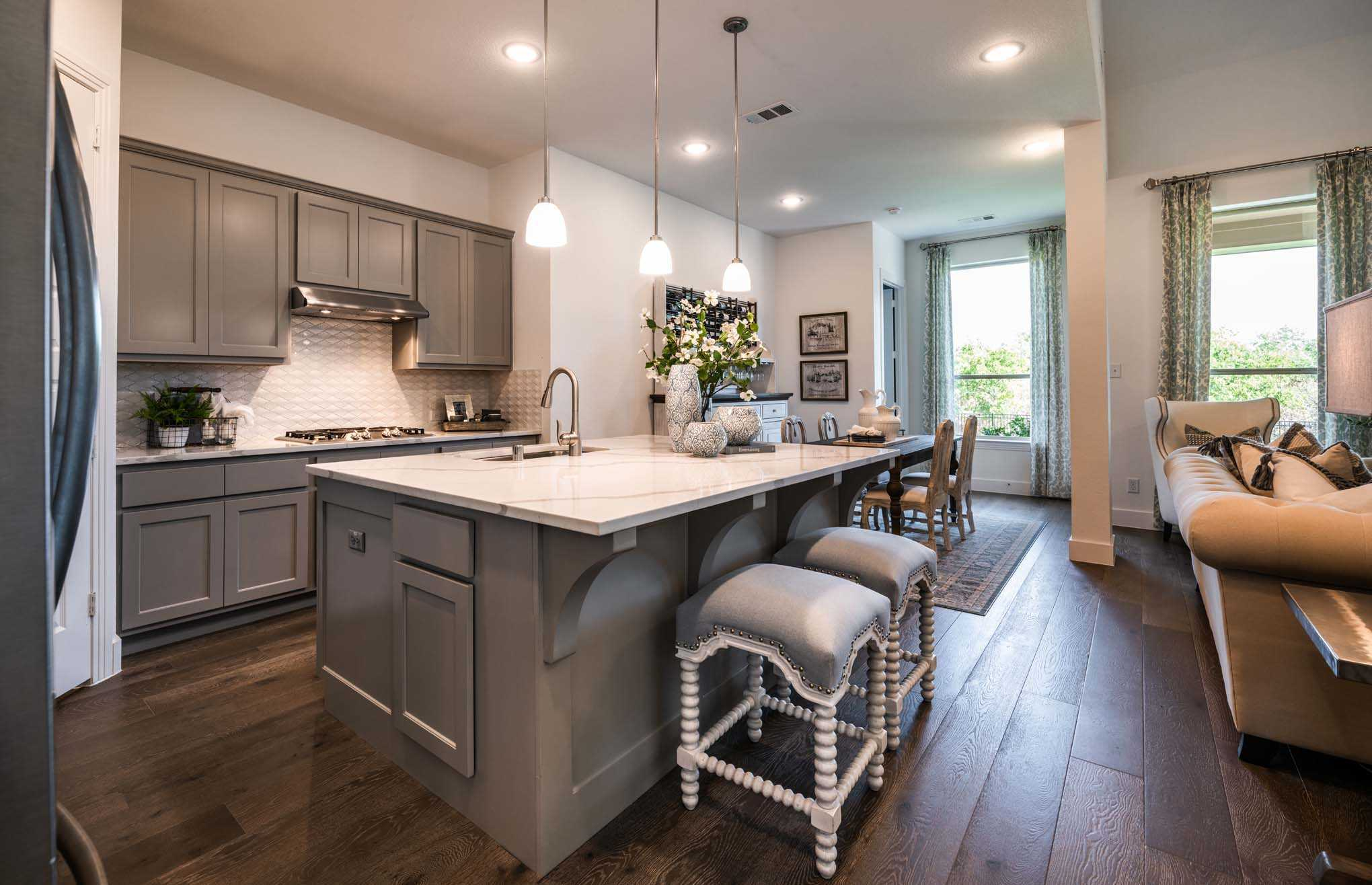 Kitchen featured in the Plan Waverley By Highland Homes in Houston, TX