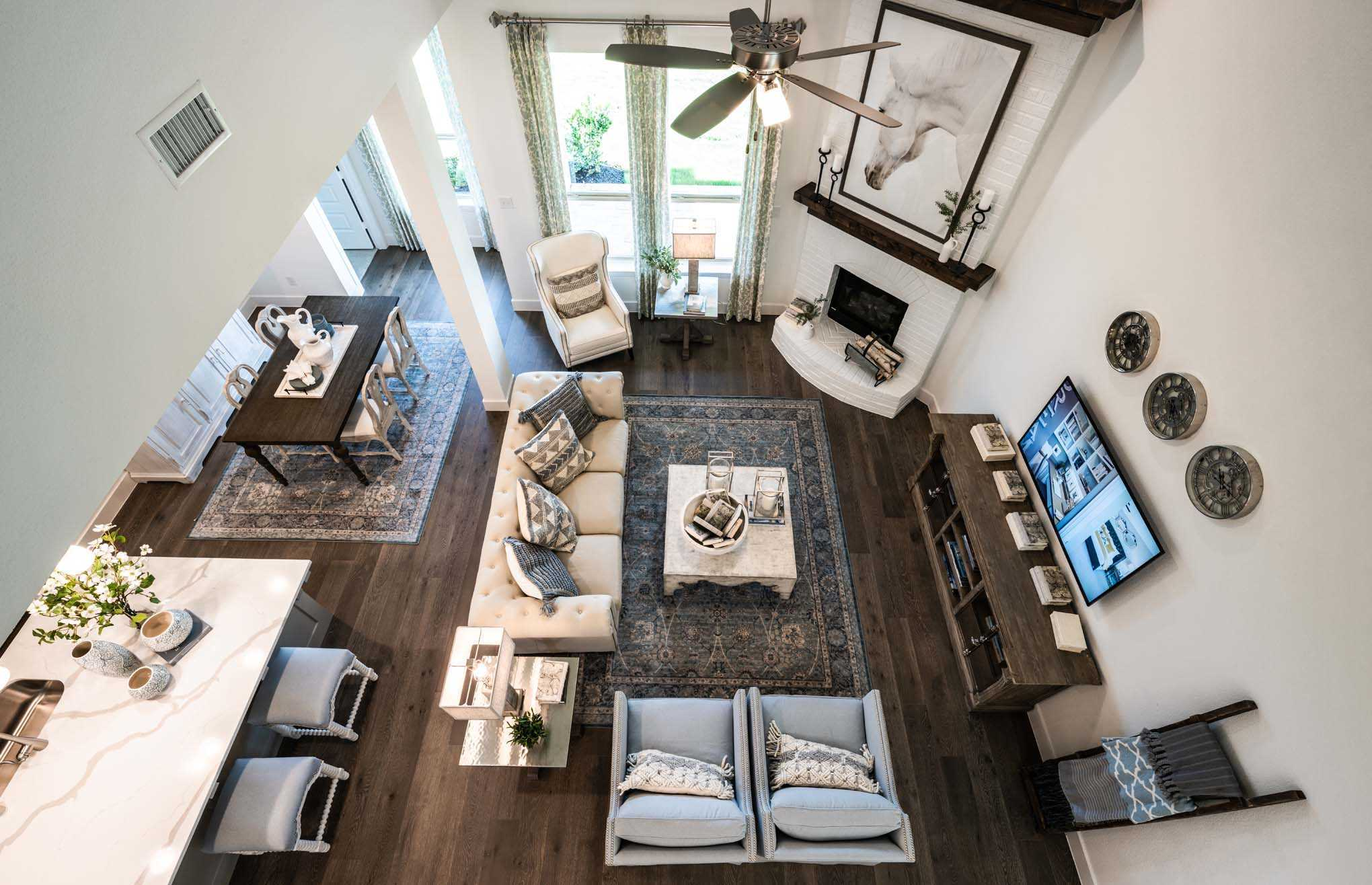 Living Area featured in the Plan Waverley By Highland Homes in Houston, TX