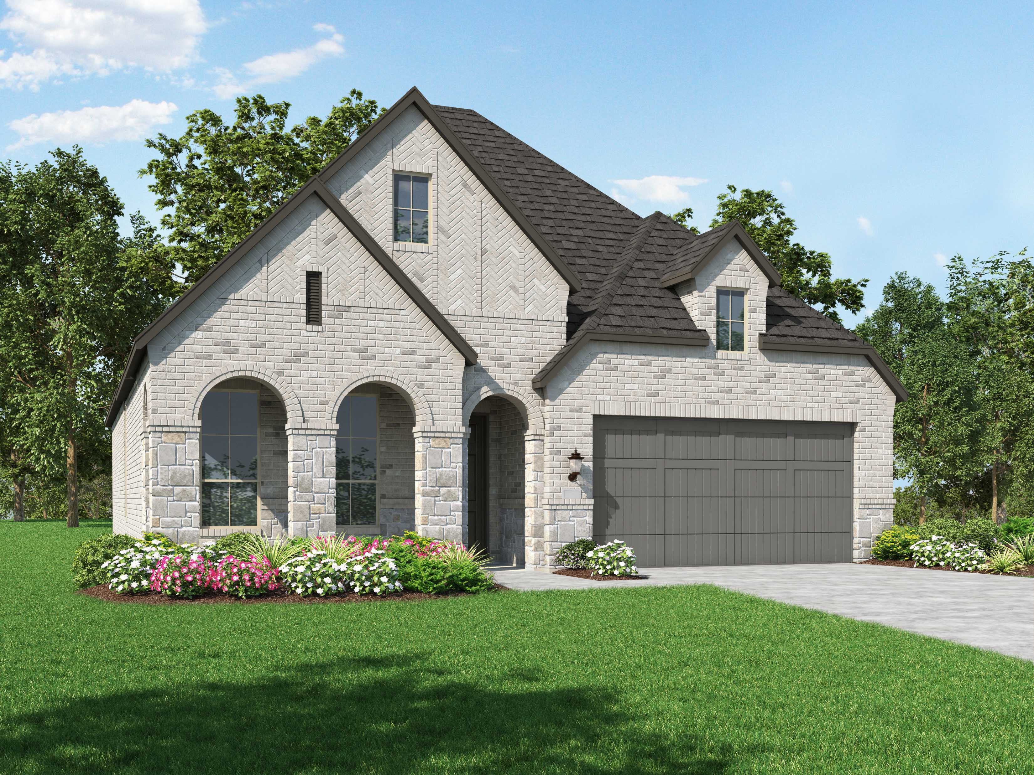 Exterior featured in the Plan Amberley By Highland Homes in Houston, TX