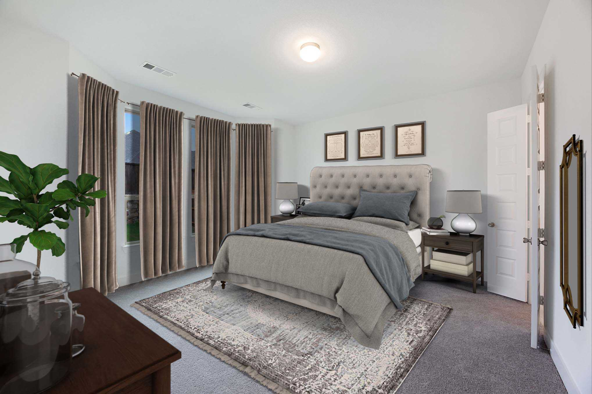 Bedroom featured in the Plan Redford By Highland Homes in Sherman-Denison, TX