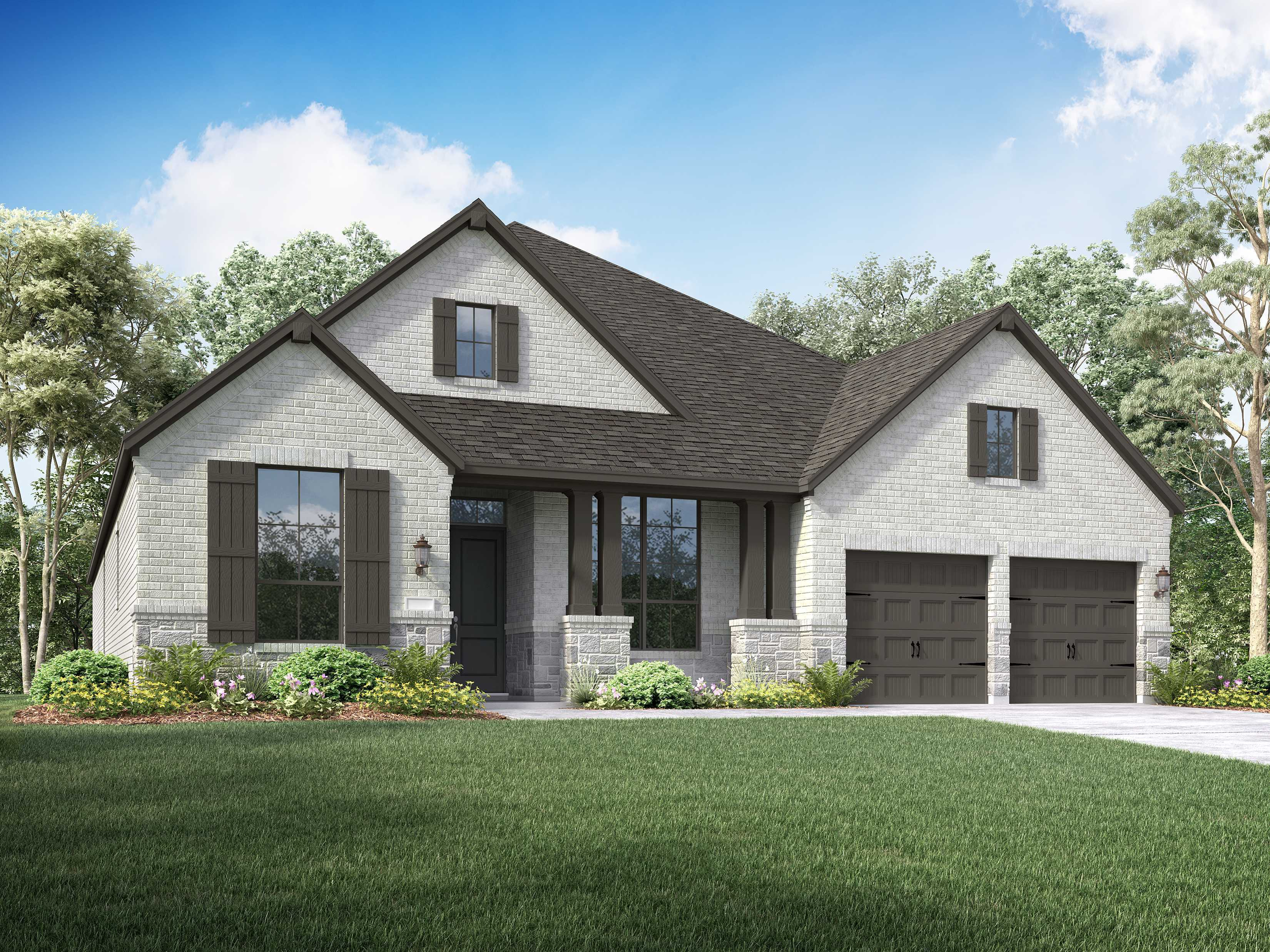 Exterior featured in the Plan 213 By Highland Homes in Houston, TX