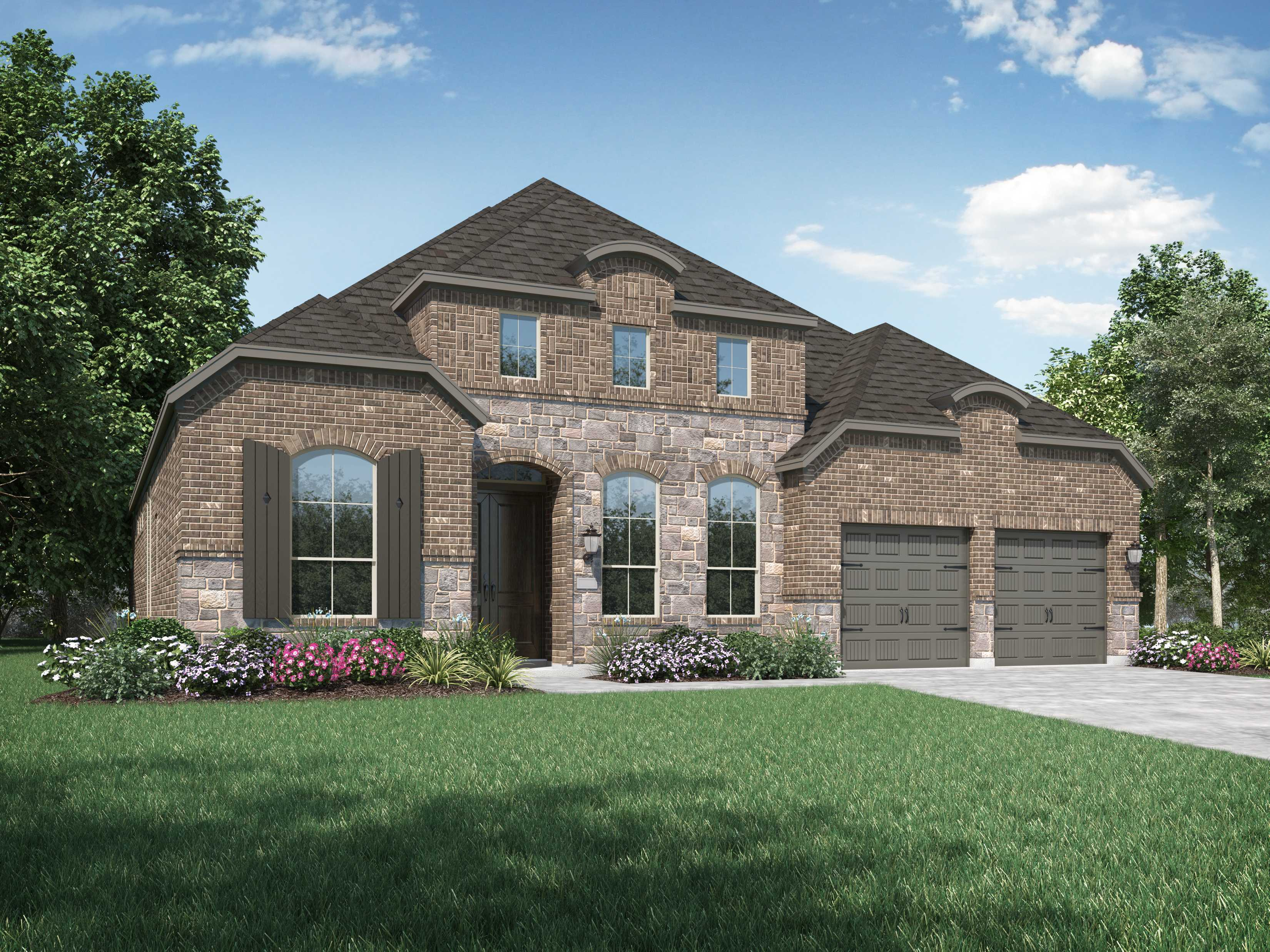 Exterior featured in the Plan 215 By Highland Homes in Houston, TX