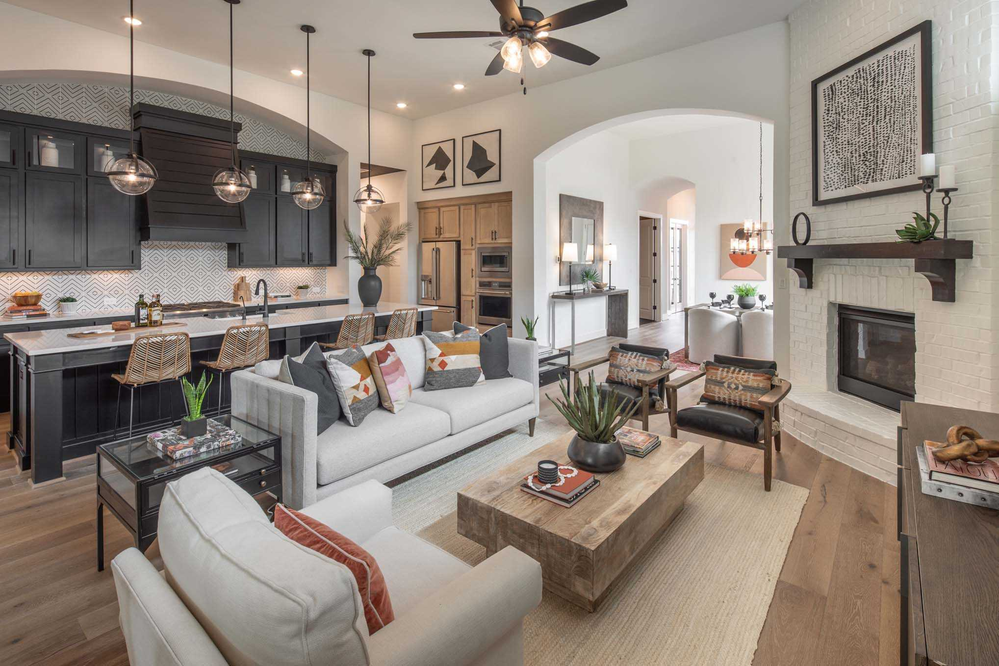 Living Area featured in the Plan 215 By Highland Homes in Houston, TX