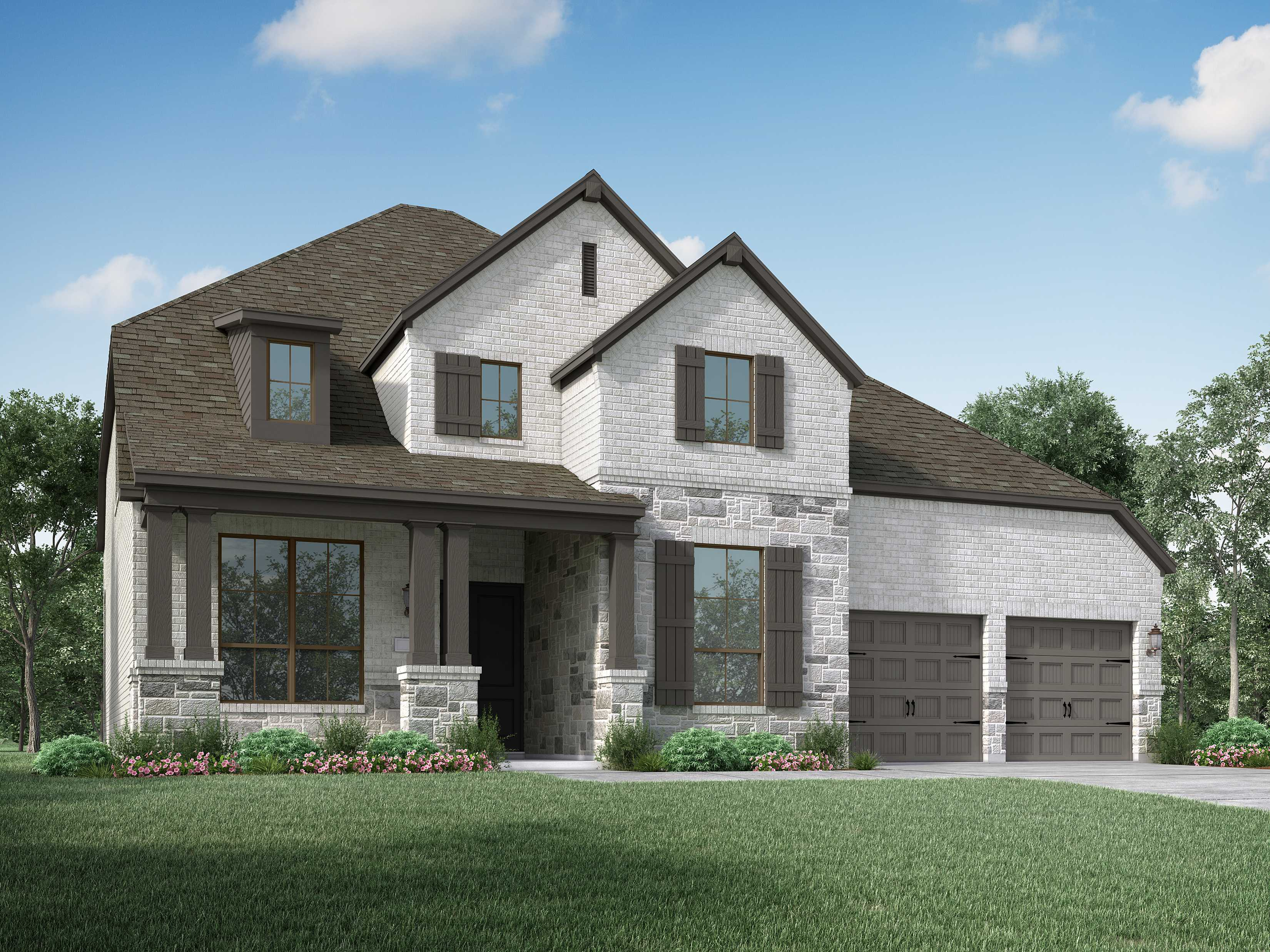 Exterior featured in the Plan 220 By Highland Homes in San Antonio, TX