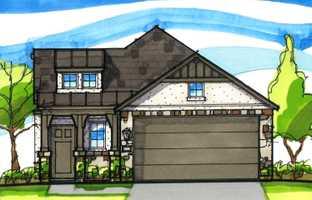 Plan Carlton - Santa Rita Ranch North: 40ft. lots: Liberty Hill, Texas - Highland Homes