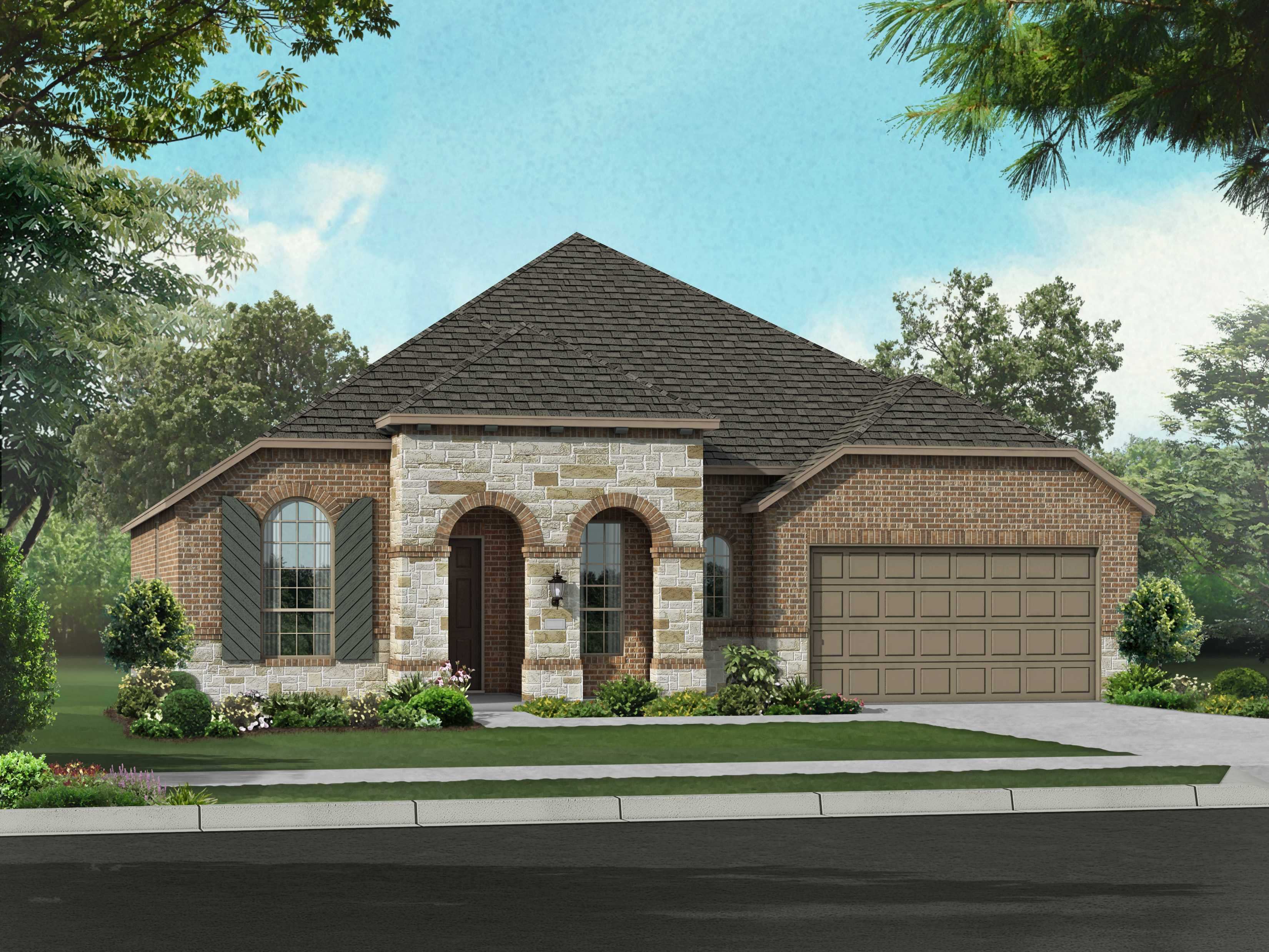 Exterior featured in the Plan Napier By Highland Homes in Dallas, TX