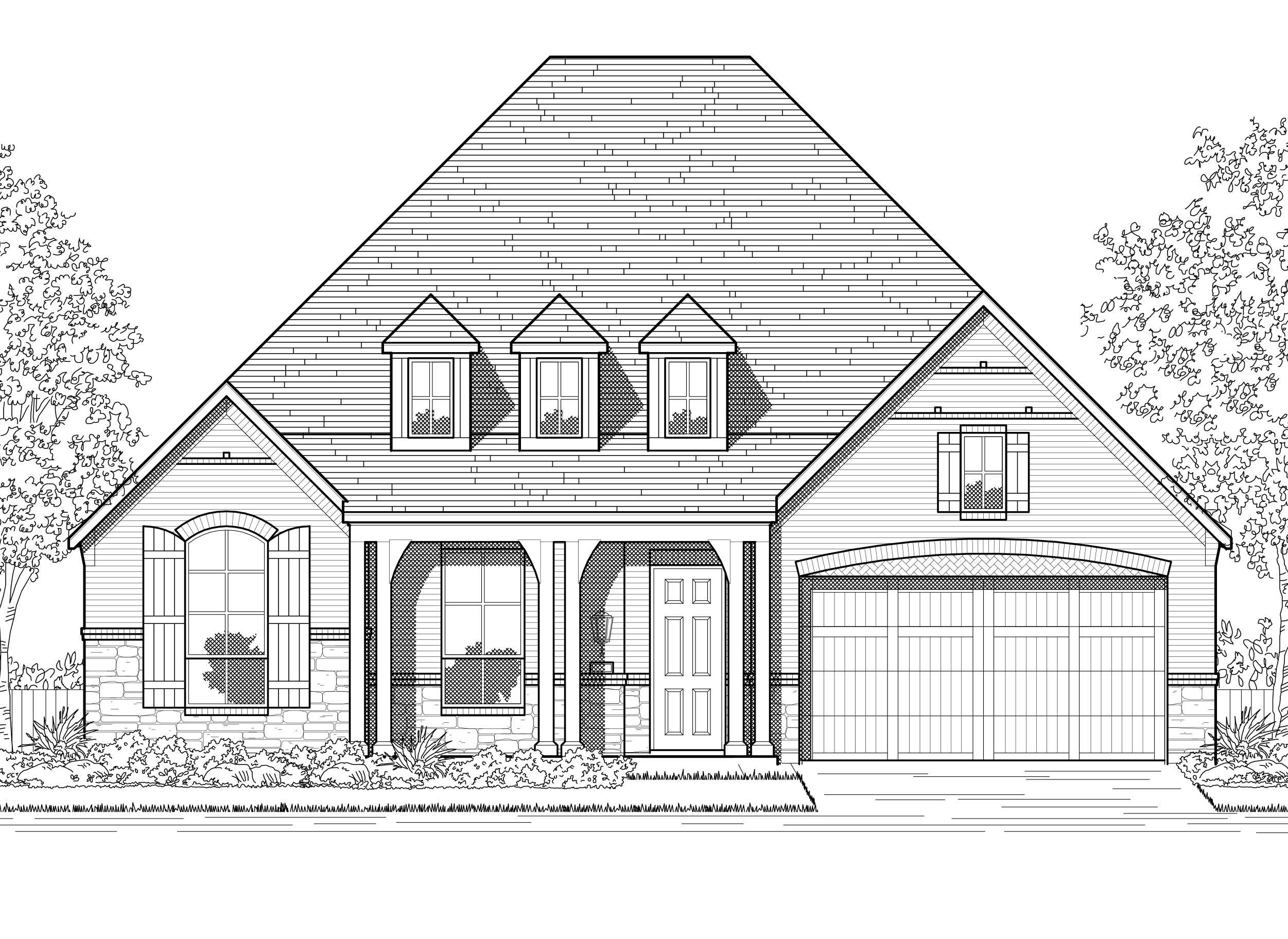 Exterior featured in the Plan Fairhall By Highland Homes in Dallas, TX