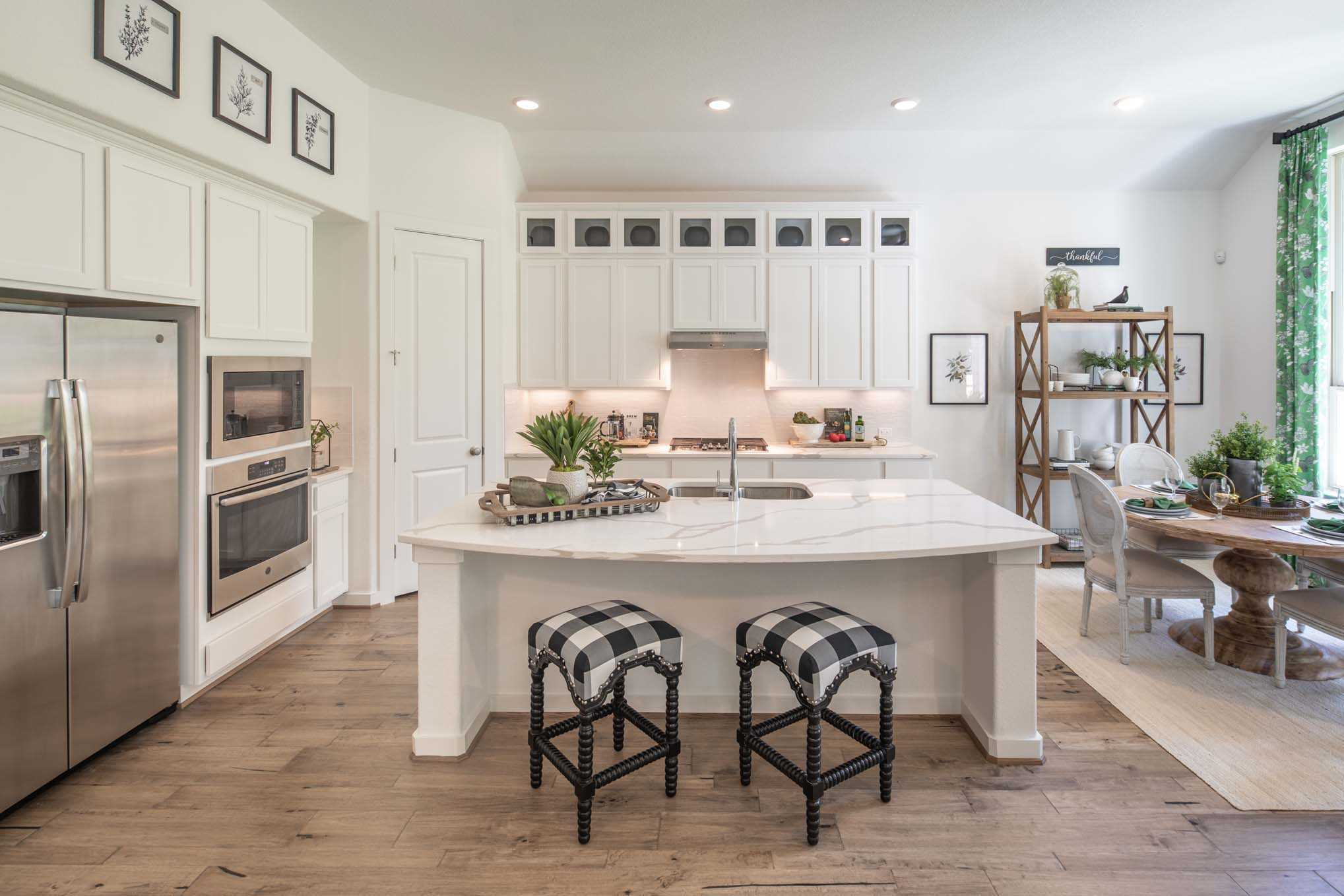 Kitchen featured in the Plan Fairhall By Highland Homes in Dallas, TX
