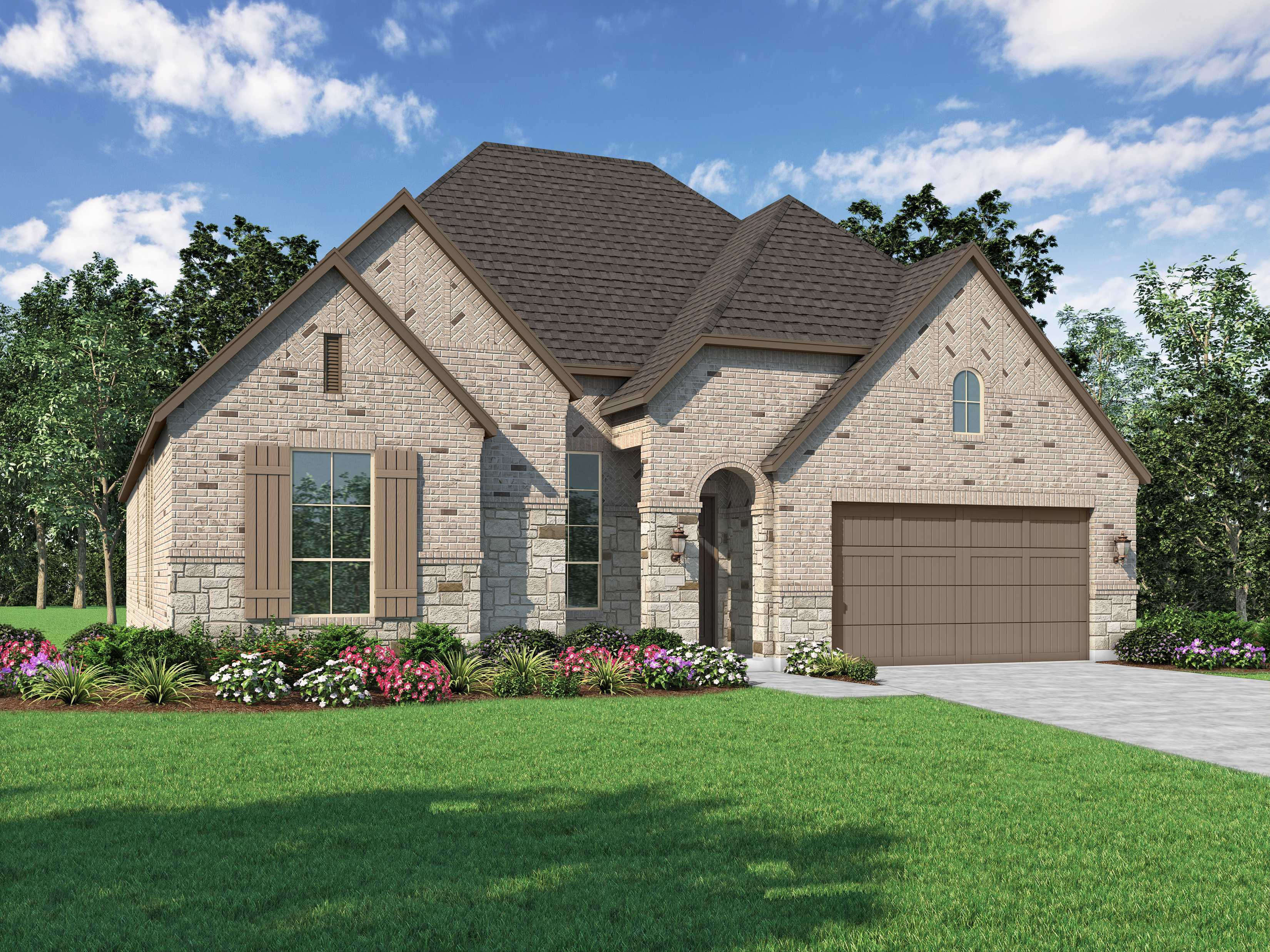 Exterior featured in the Plan Fleetwood By Highland Homes in Dallas, TX