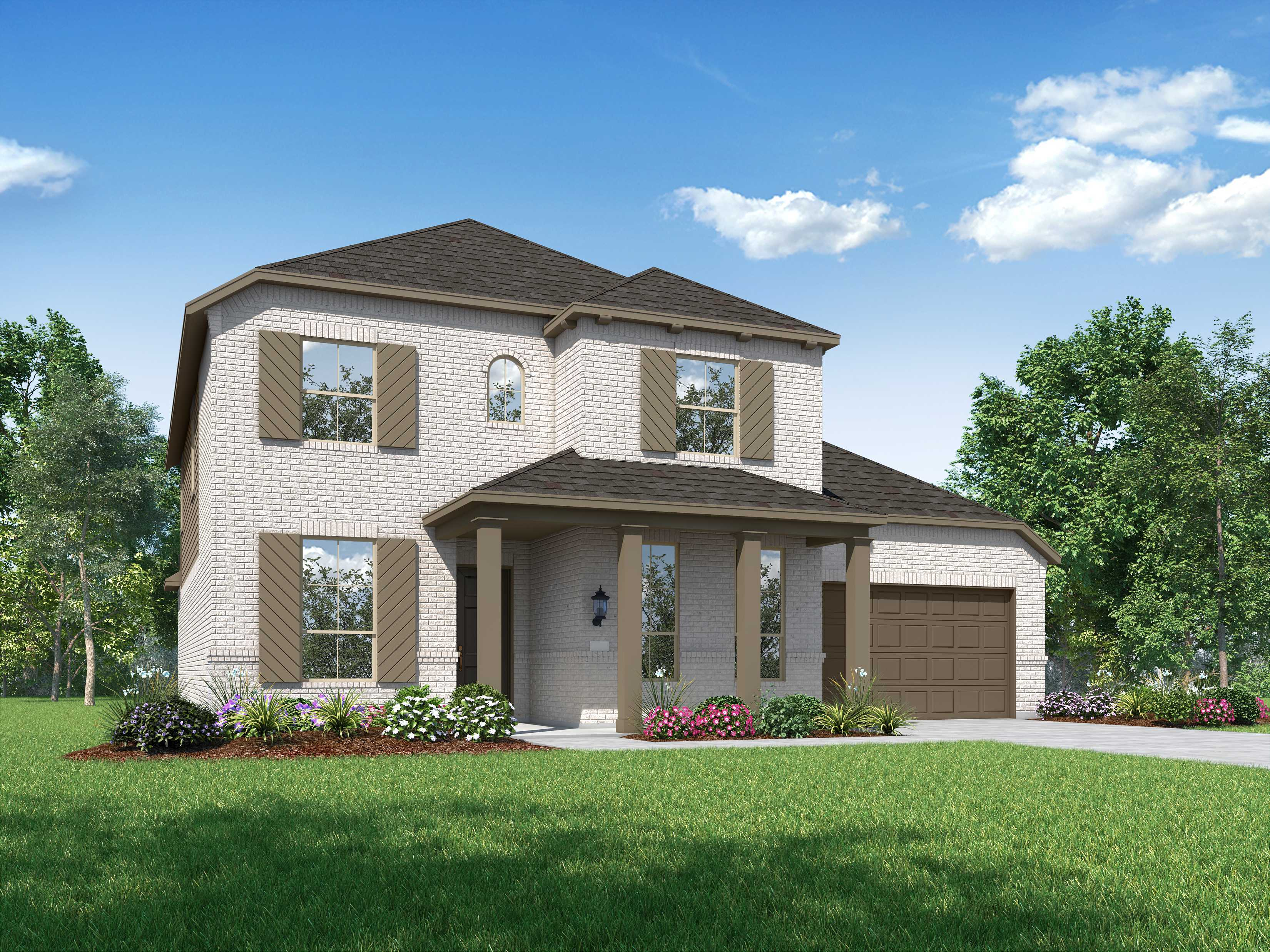 Exterior featured in the Plan Eastbourne By Highland Homes in Dallas, TX