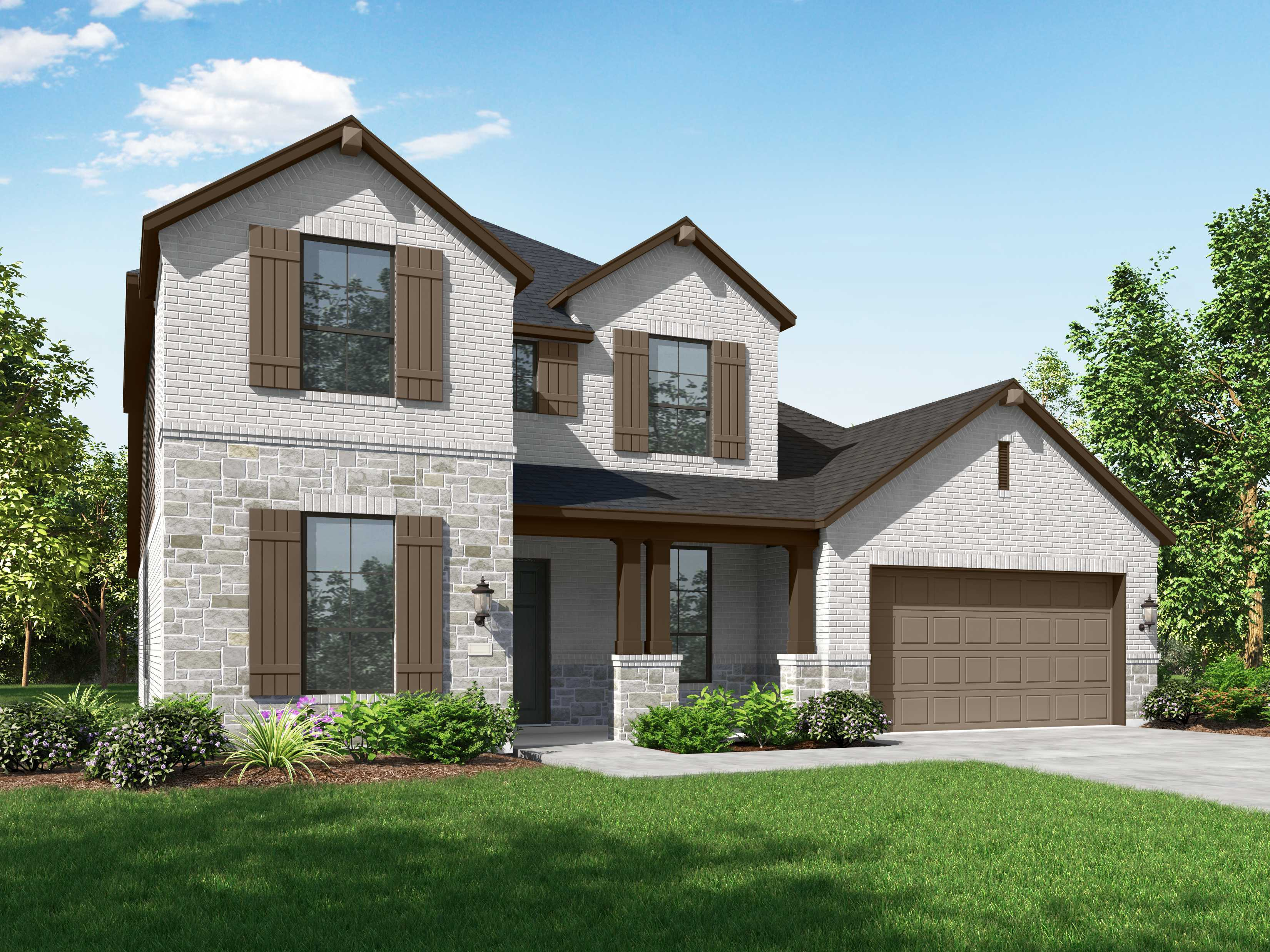 Exterior featured in the Plan Wimbledon By Highland Homes in Dallas, TX