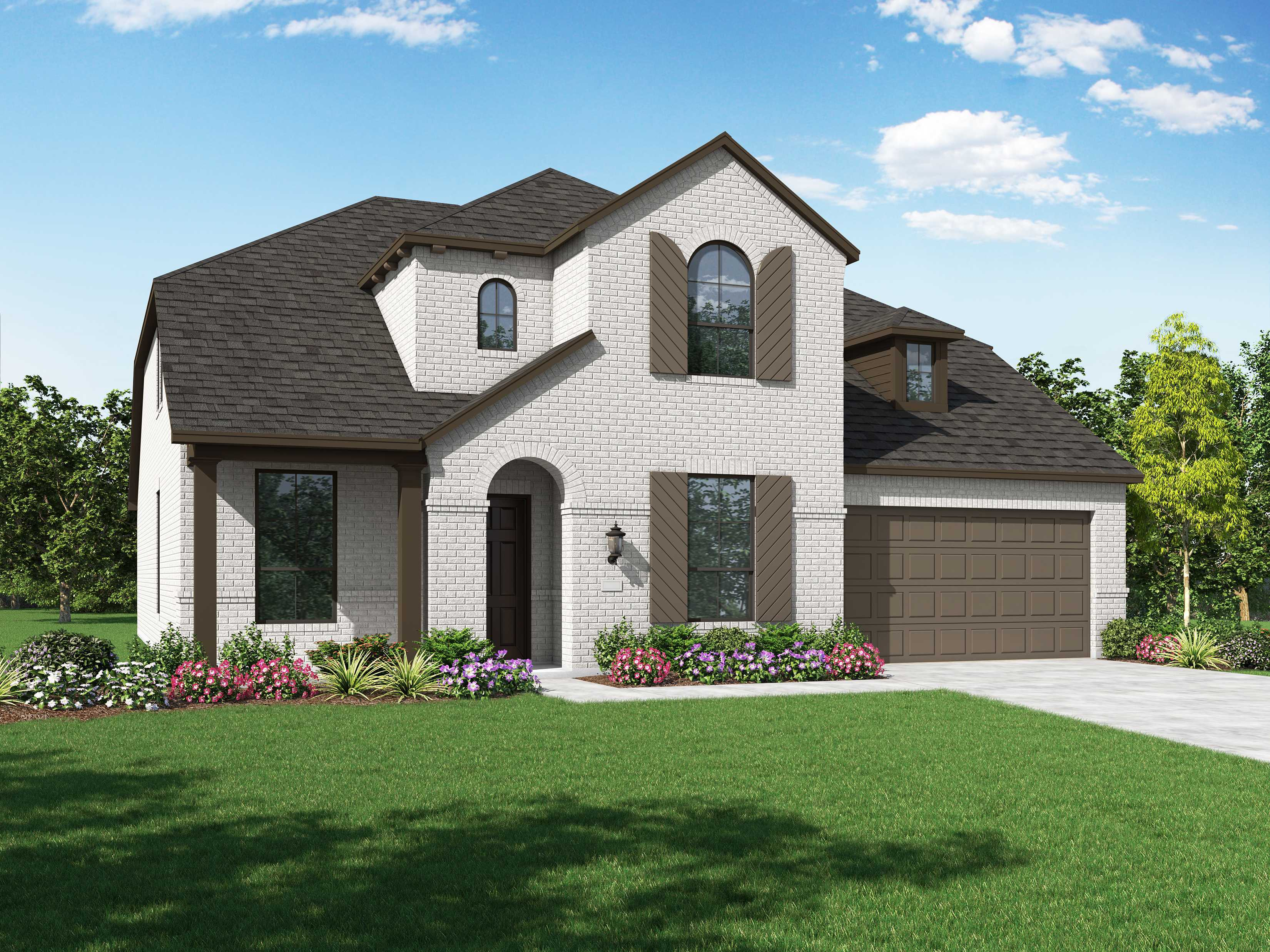 Exterior featured in the Plan Yorkshire By Highland Homes in Dallas, TX