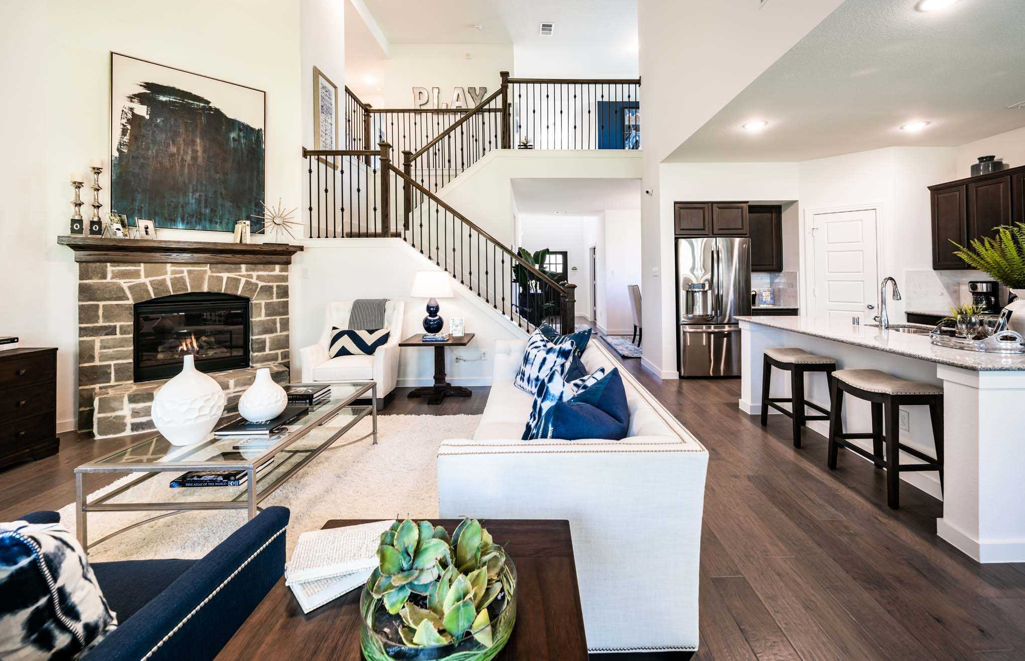Living Area featured in the Plan Yorkshire By Highland Homes in Dallas, TX