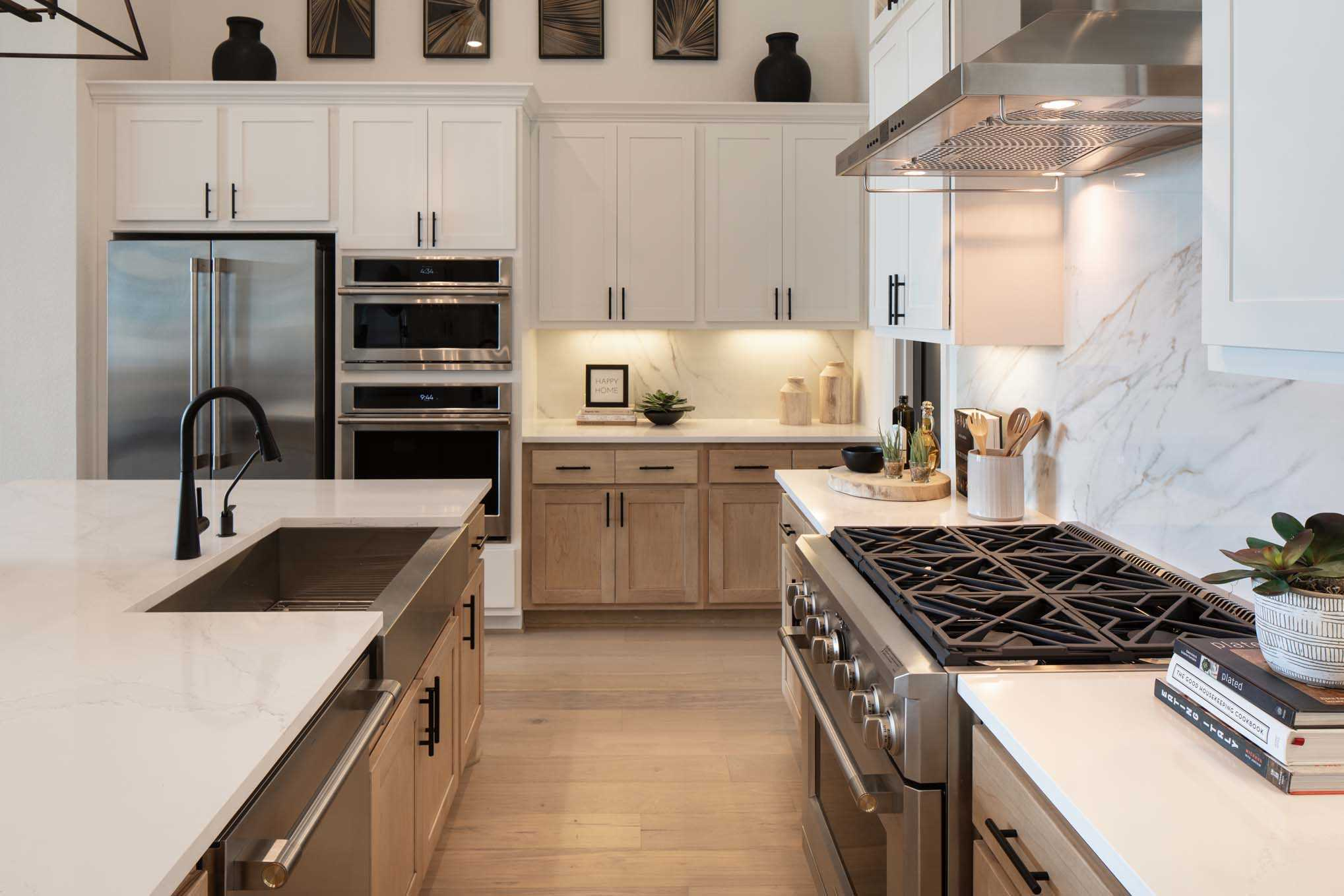 Kitchen featured in the Plan 272 By Highland Homes in Dallas, TX