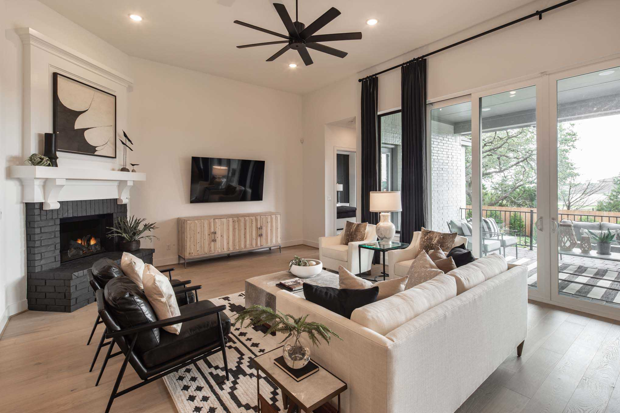 Living Area featured in the Plan 272 By Highland Homes in Dallas, TX